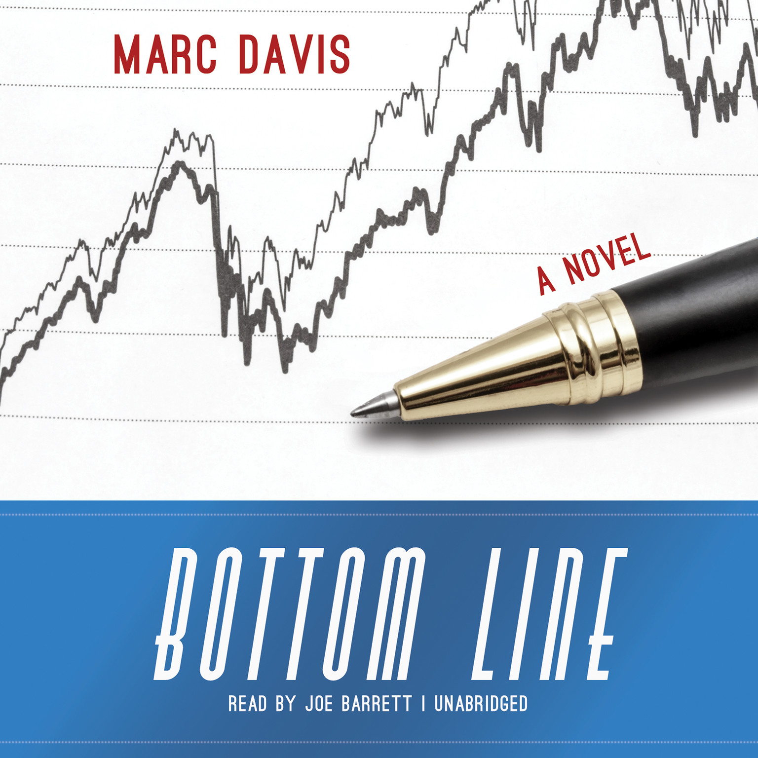 Printable Bottom Line: A Novel Audiobook Cover Art