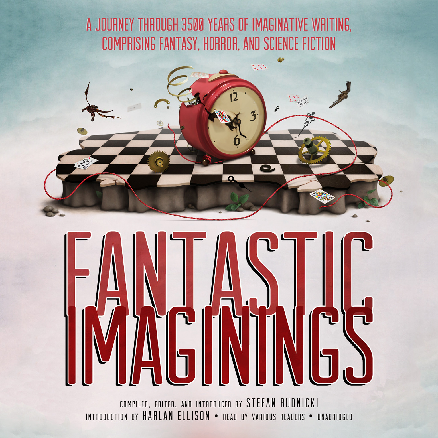 Printable Fantastic Imaginings: A Journey through 3500 Years of Imaginative Writing, Comprising Fantasy, Horror, and Science Fiction Audiobook Cover Art