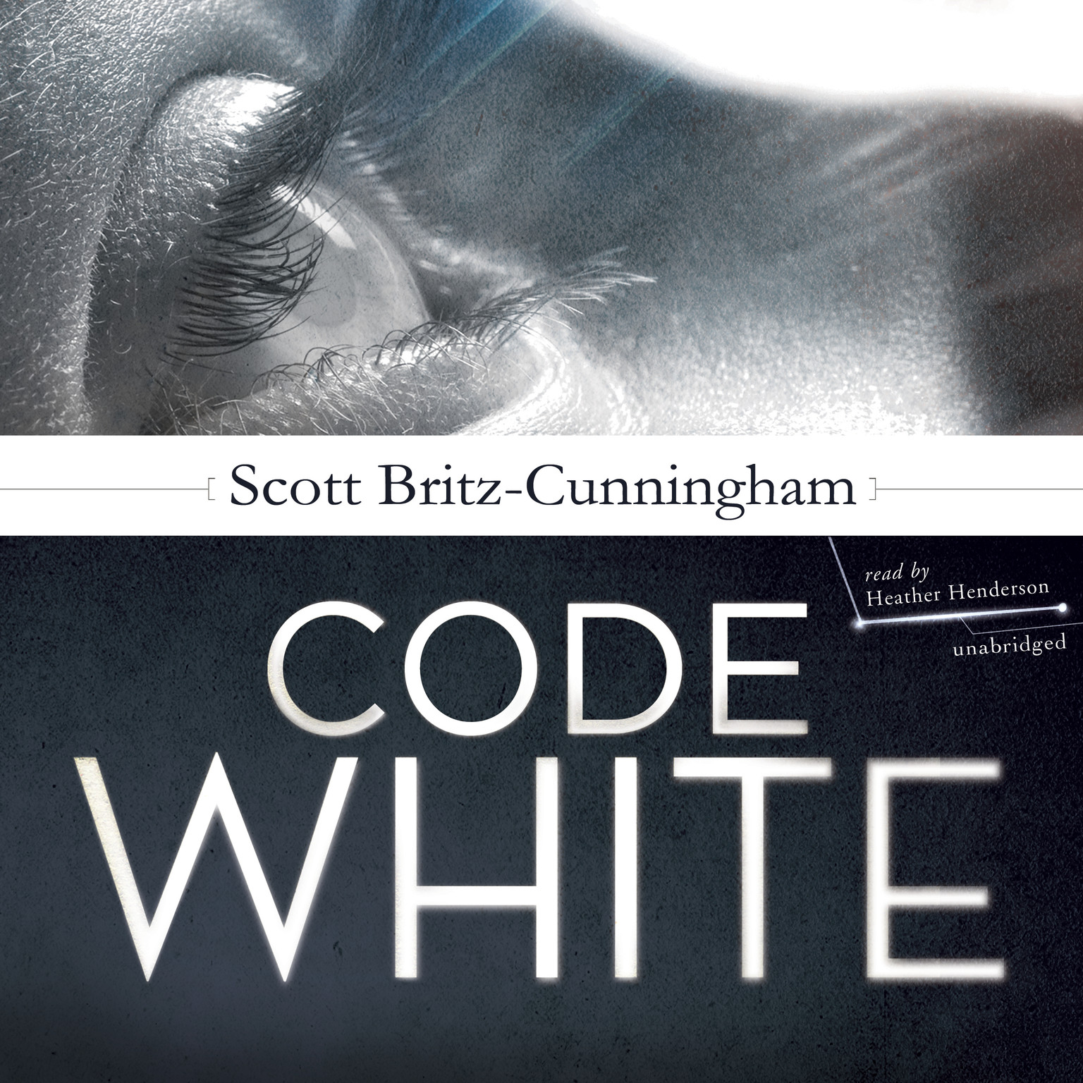 Printable Code White Audiobook Cover Art