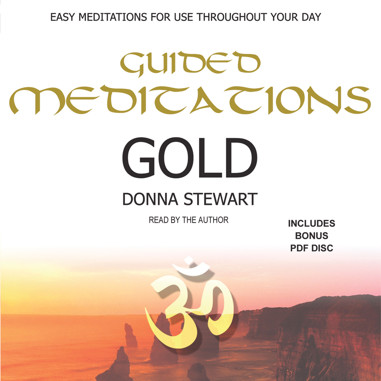 Printable Guided Meditations Gold Audiobook Cover Art