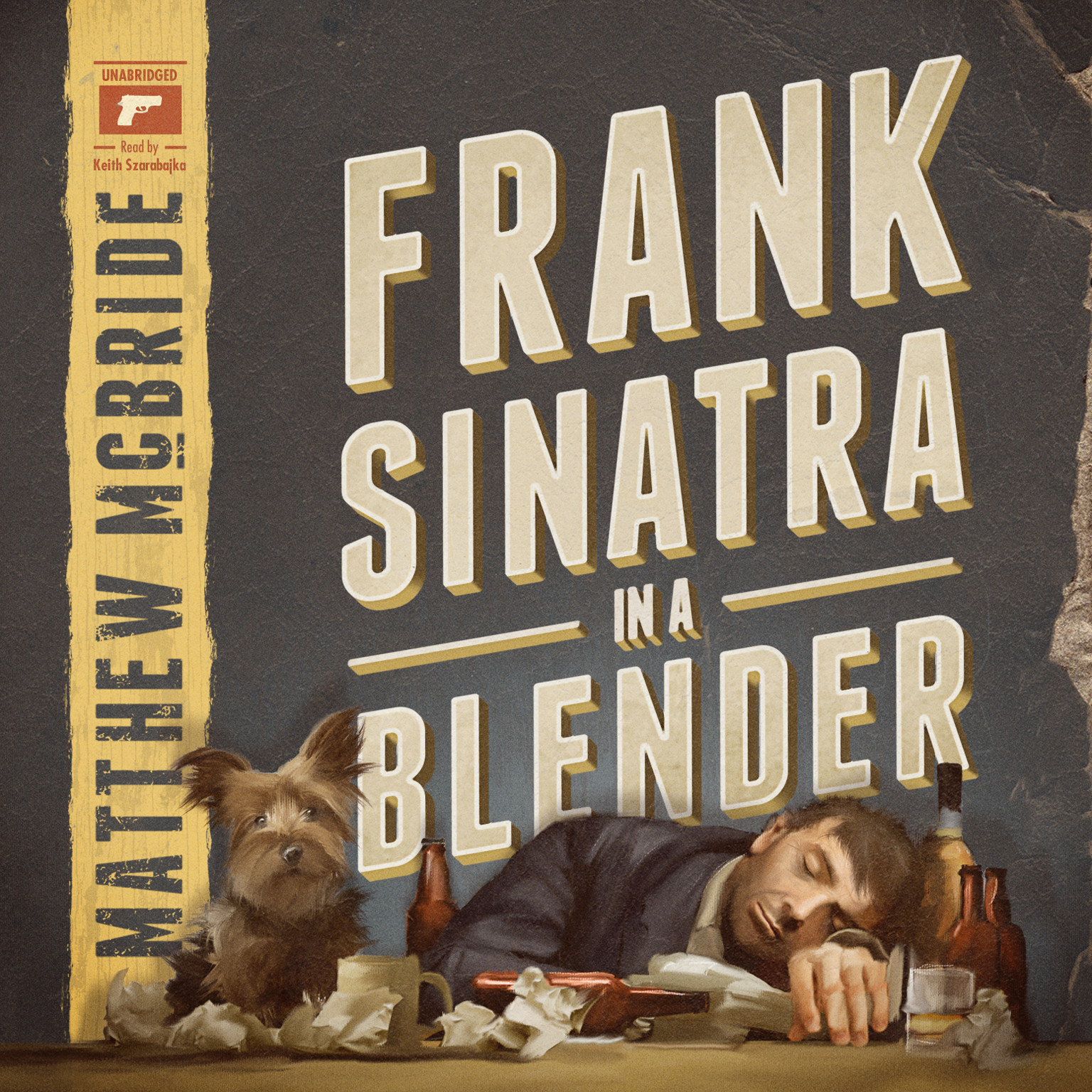 Printable Frank Sinatra in a Blender Audiobook Cover Art