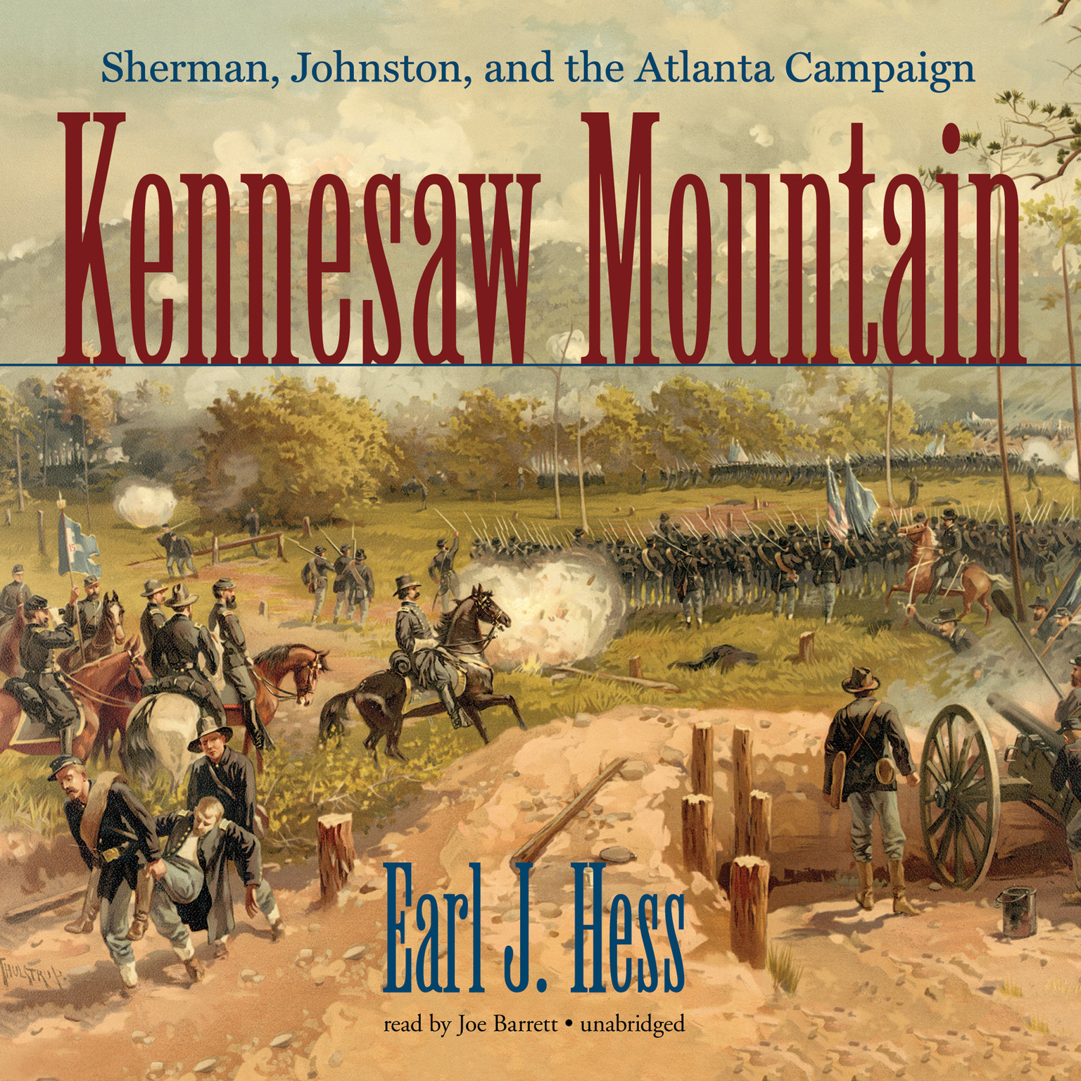 Printable Kennesaw Mountain: Sherman, Johnston, and the Atlanta Campaign Audiobook Cover Art