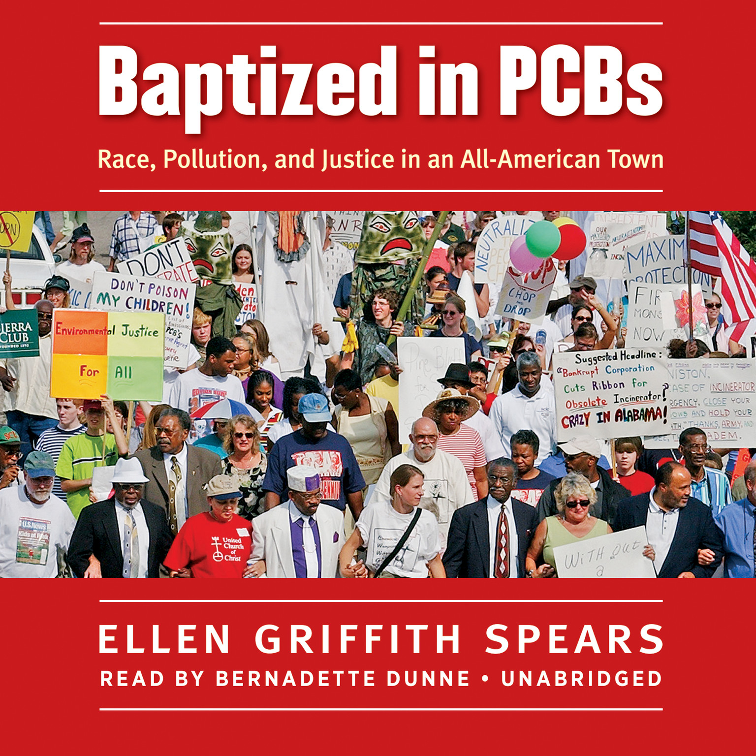Printable Baptized in PCBs: Race, Pollution, and Justice in an All-American Town Audiobook Cover Art
