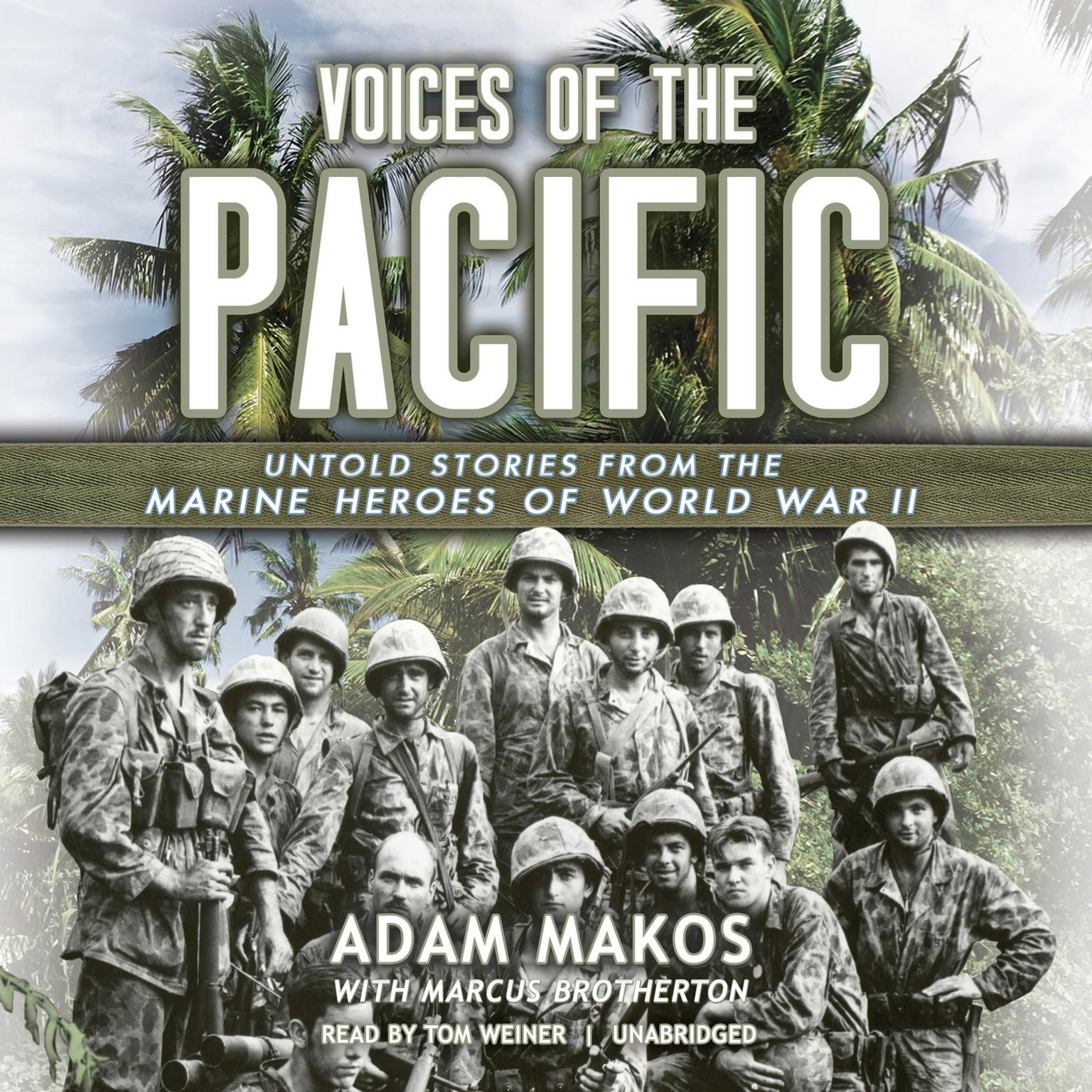 Printable Voices of the Pacific: Untold Stories from the Marine Heroes of World War II Audiobook Cover Art