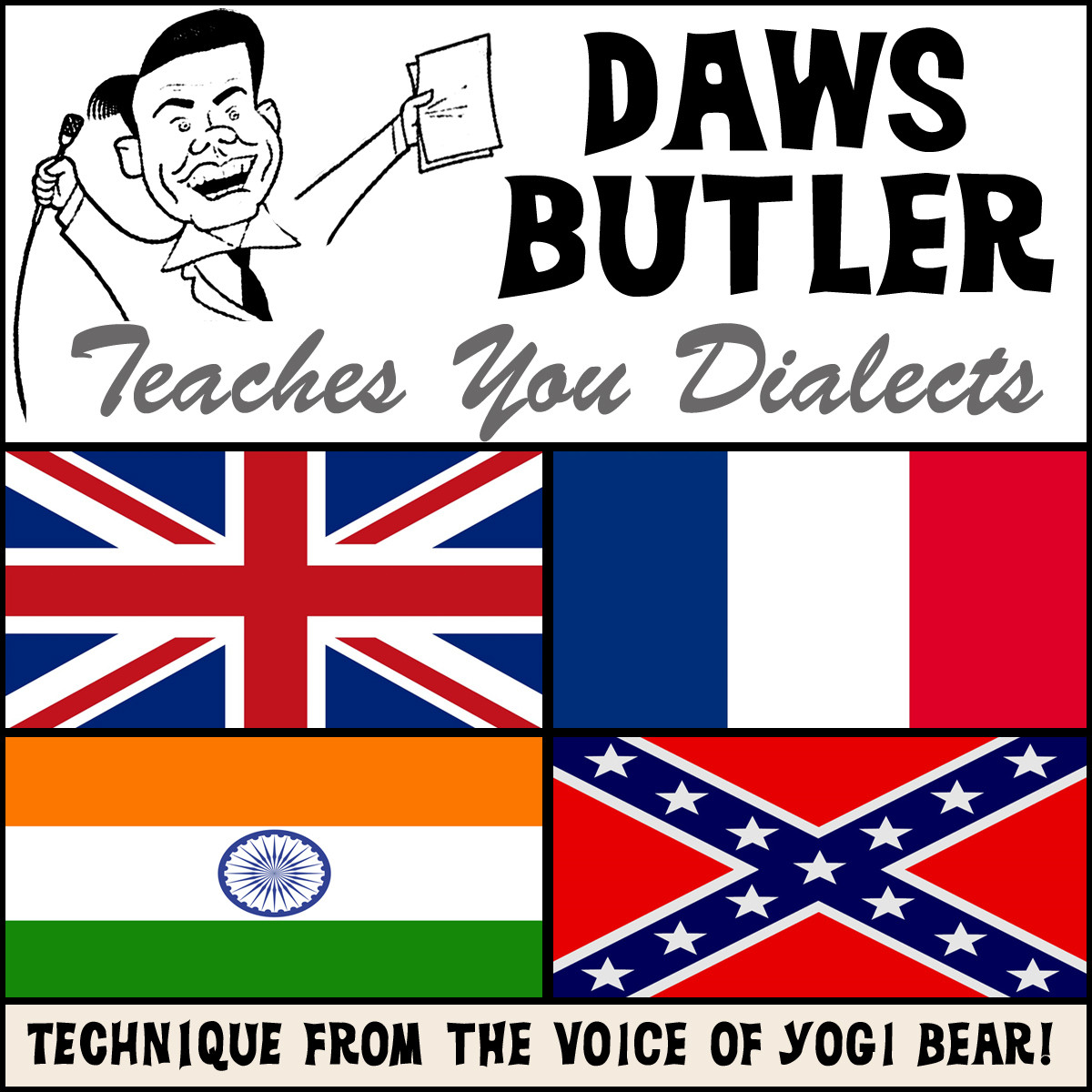 Printable Daws Butler Teaches You Dialects: Lessons from the Voice of Yogi Bear! Audiobook Cover Art