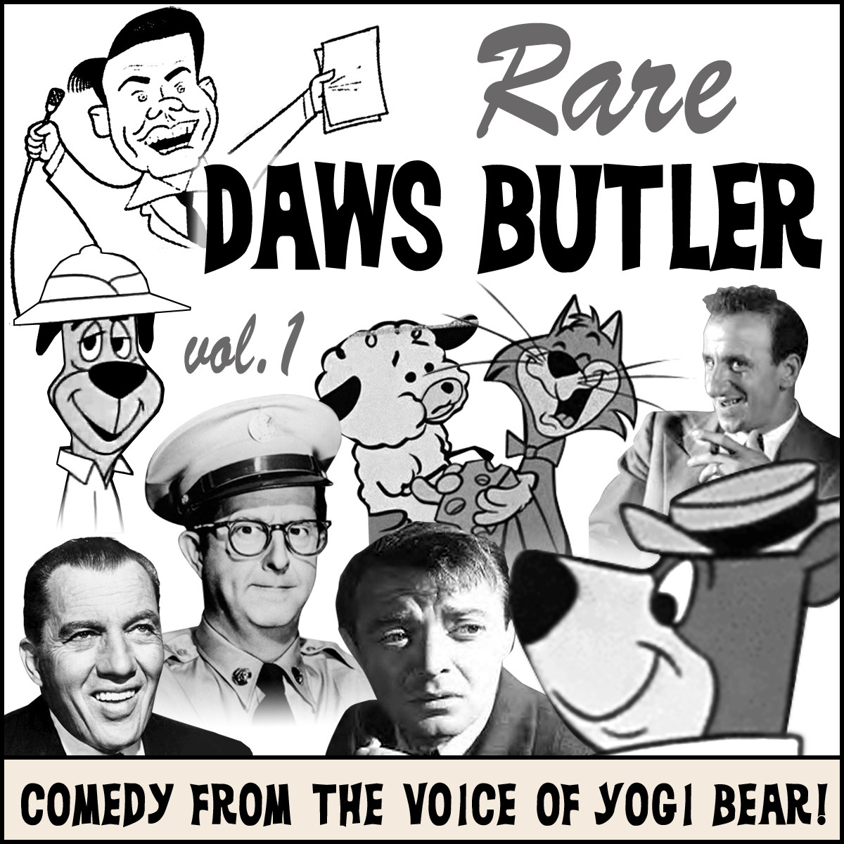 Printable Rare Daws Butler: Comedy from the Voice of Yogi Bear! Audiobook Cover Art