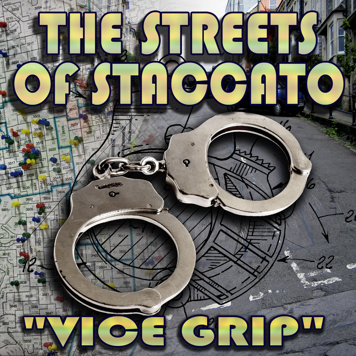"Printable Streets of Staccato: Episode Two: ""Vice Grip"" Audiobook Cover Art"