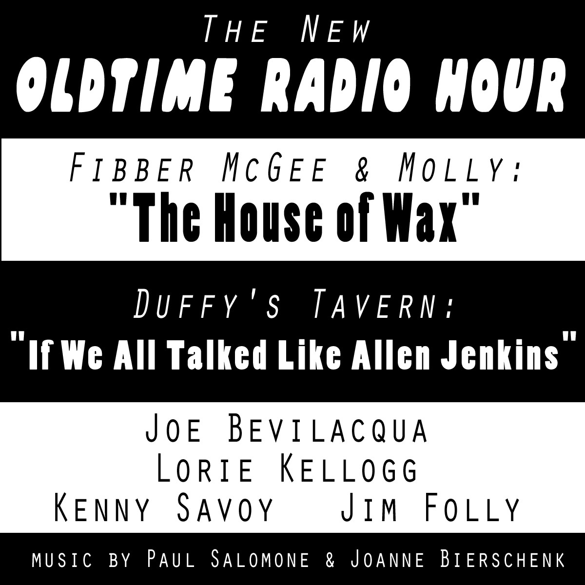 "Printable The New Old-Time Radio Hour: ""Fibber McGee"" and ""Duffy's Tavern"" Audiobook Cover Art"