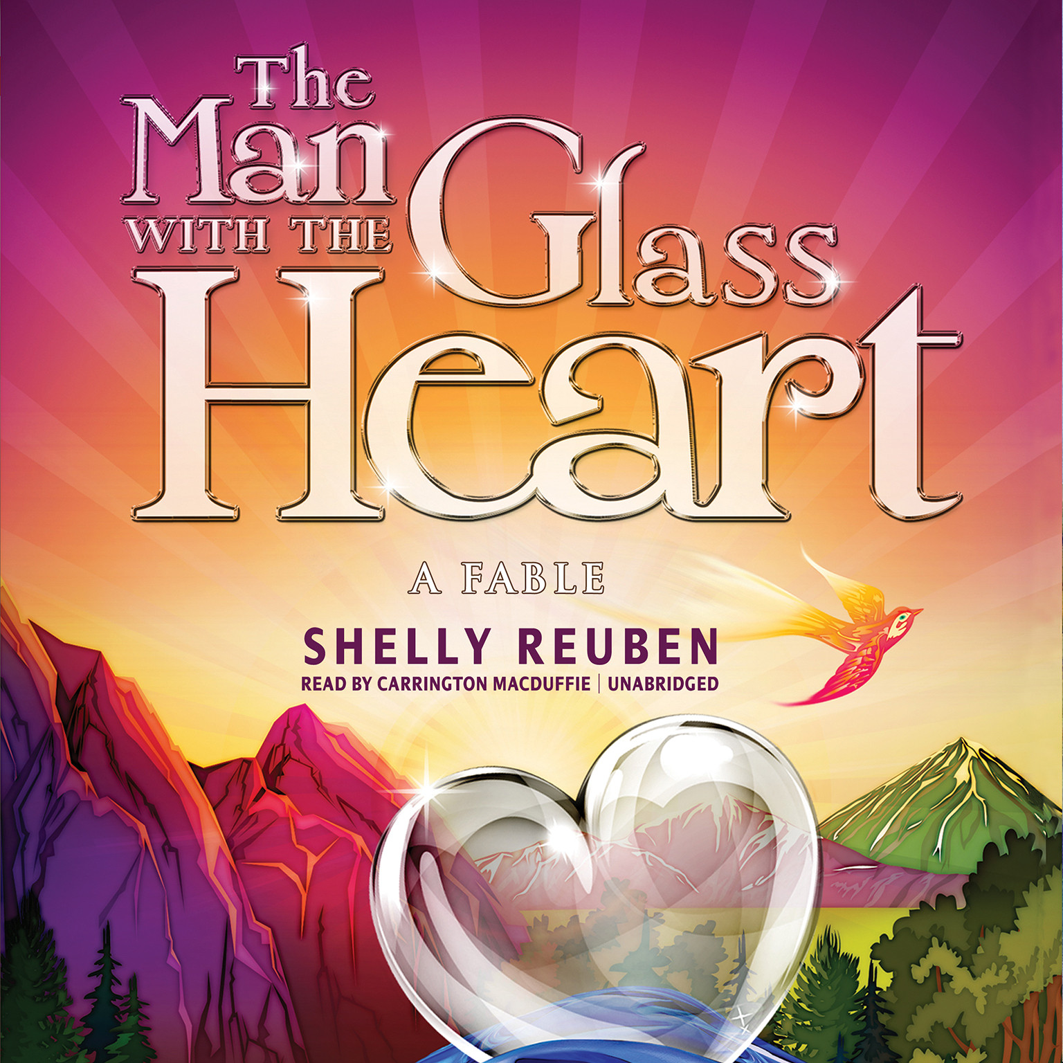 Printable The Man with the Glass Heart: A Fable Audiobook Cover Art