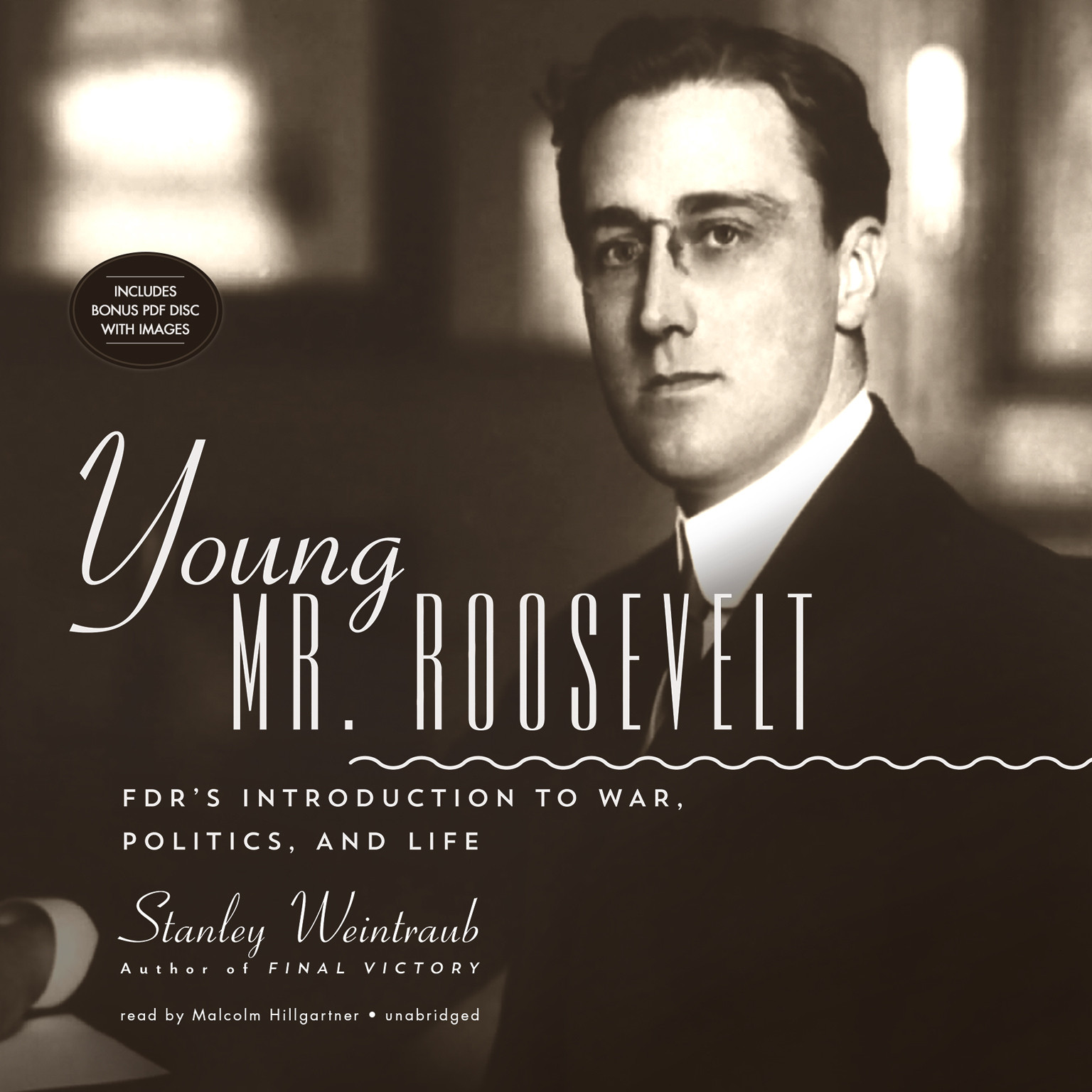 Printable Young Mr. Roosevelt: FDR's Introduction to War, Politics, and Life Audiobook Cover Art