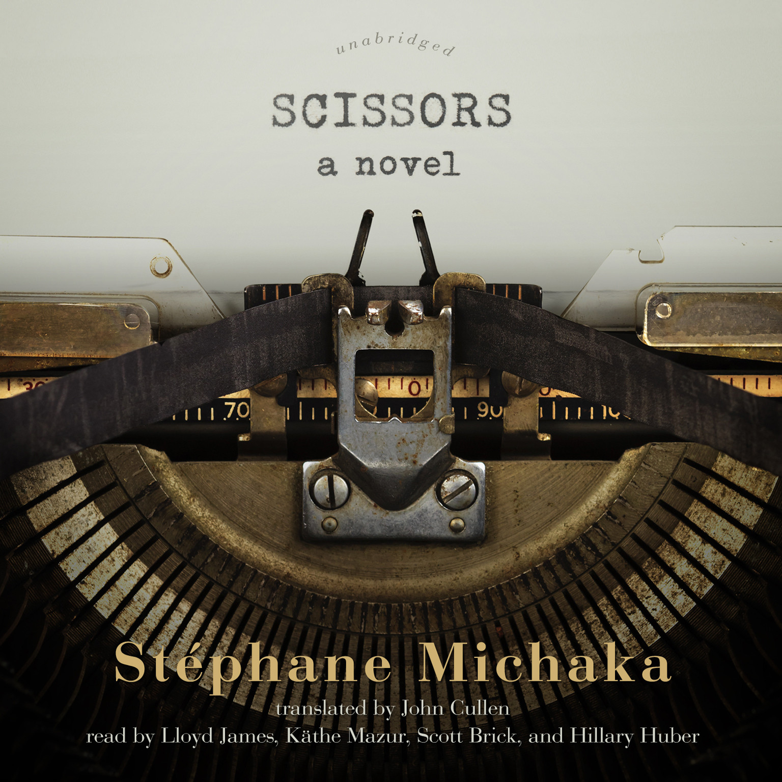 Printable Scissors: A Novel Audiobook Cover Art