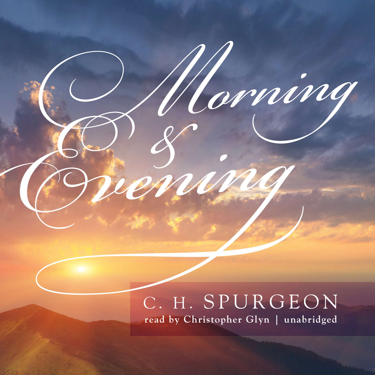 Printable Morning & Evening Audiobook Cover Art