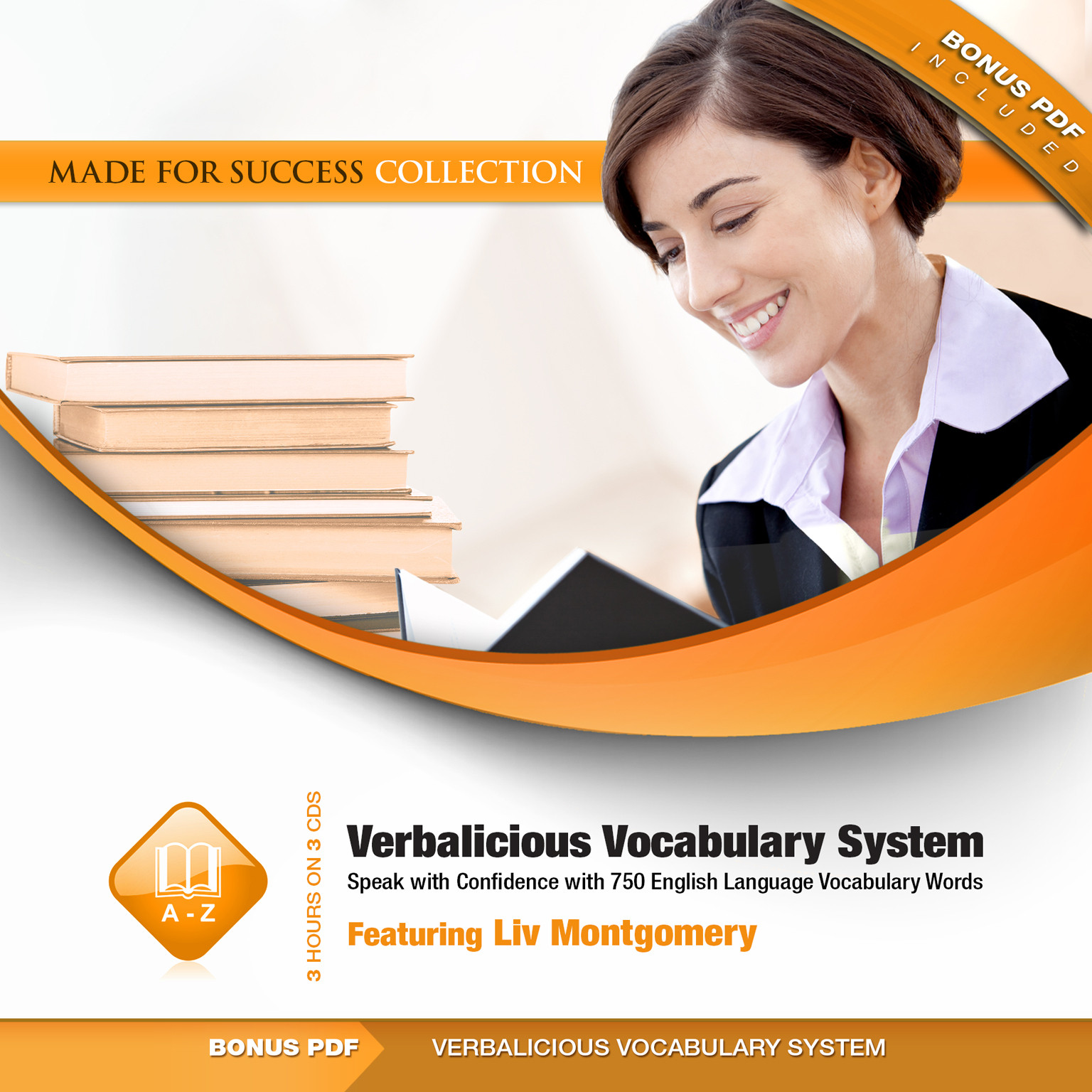 Printable Verbalicious Vocabulary System: Speak with Confidence with 750 English Language Vocabulary Words Audiobook Cover Art