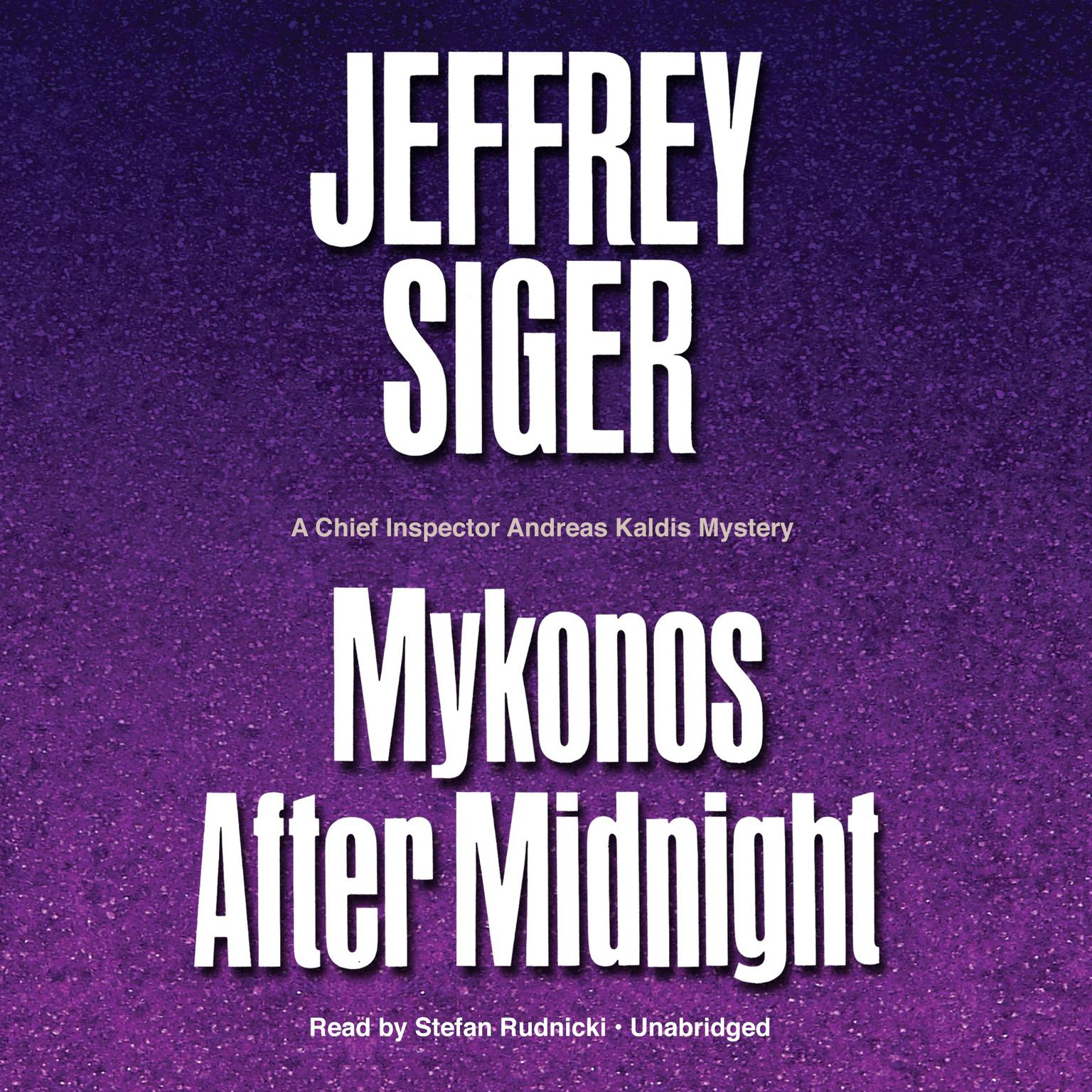 Printable Mykonos after Midnight: A Chief Inspector Andreas Kaldis Mystery Audiobook Cover Art