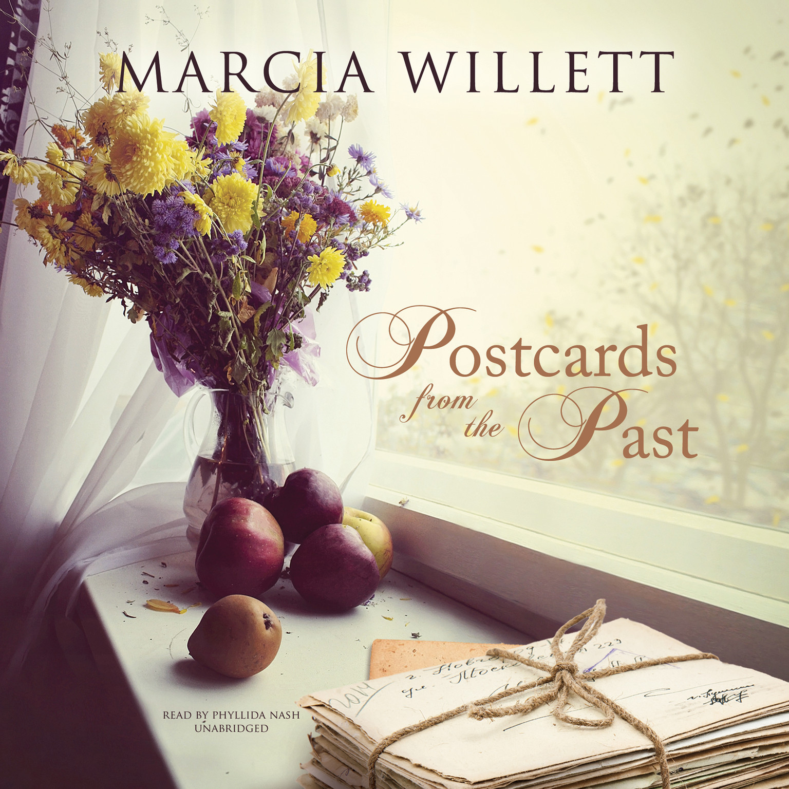 Printable Postcards from the Past Audiobook Cover Art