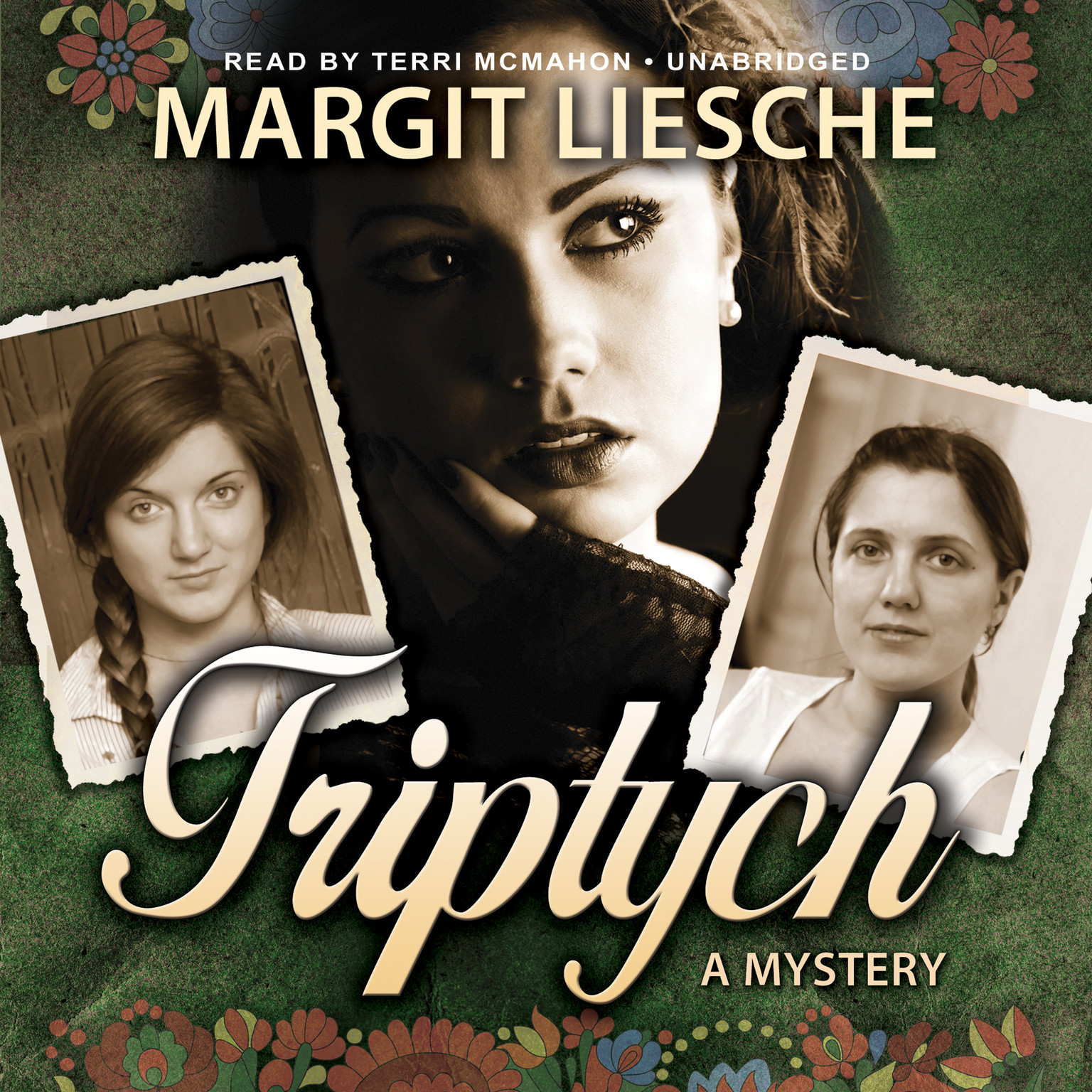 Printable Triptych: A Mystery Audiobook Cover Art