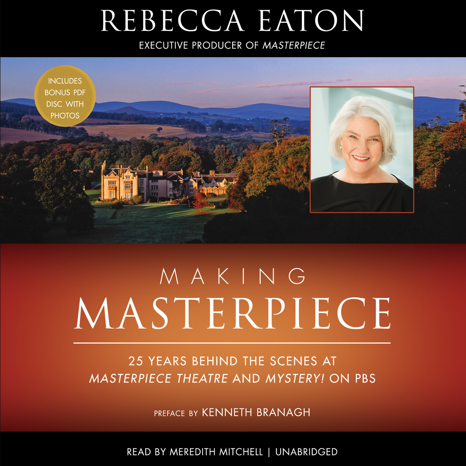 Printable Making Masterpiece: 25 Years behind the Scenes at Masterpiece Theatre and Mystery! on PBS Audiobook Cover Art