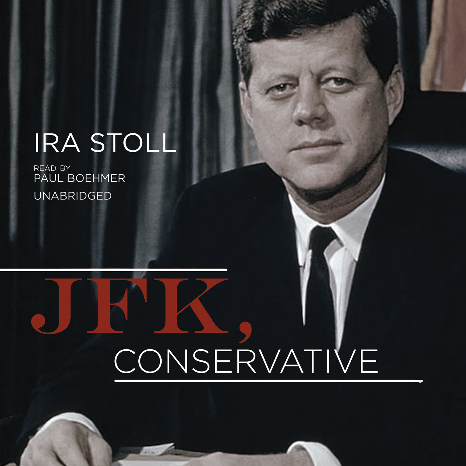 Printable JFK, Conservative Audiobook Cover Art