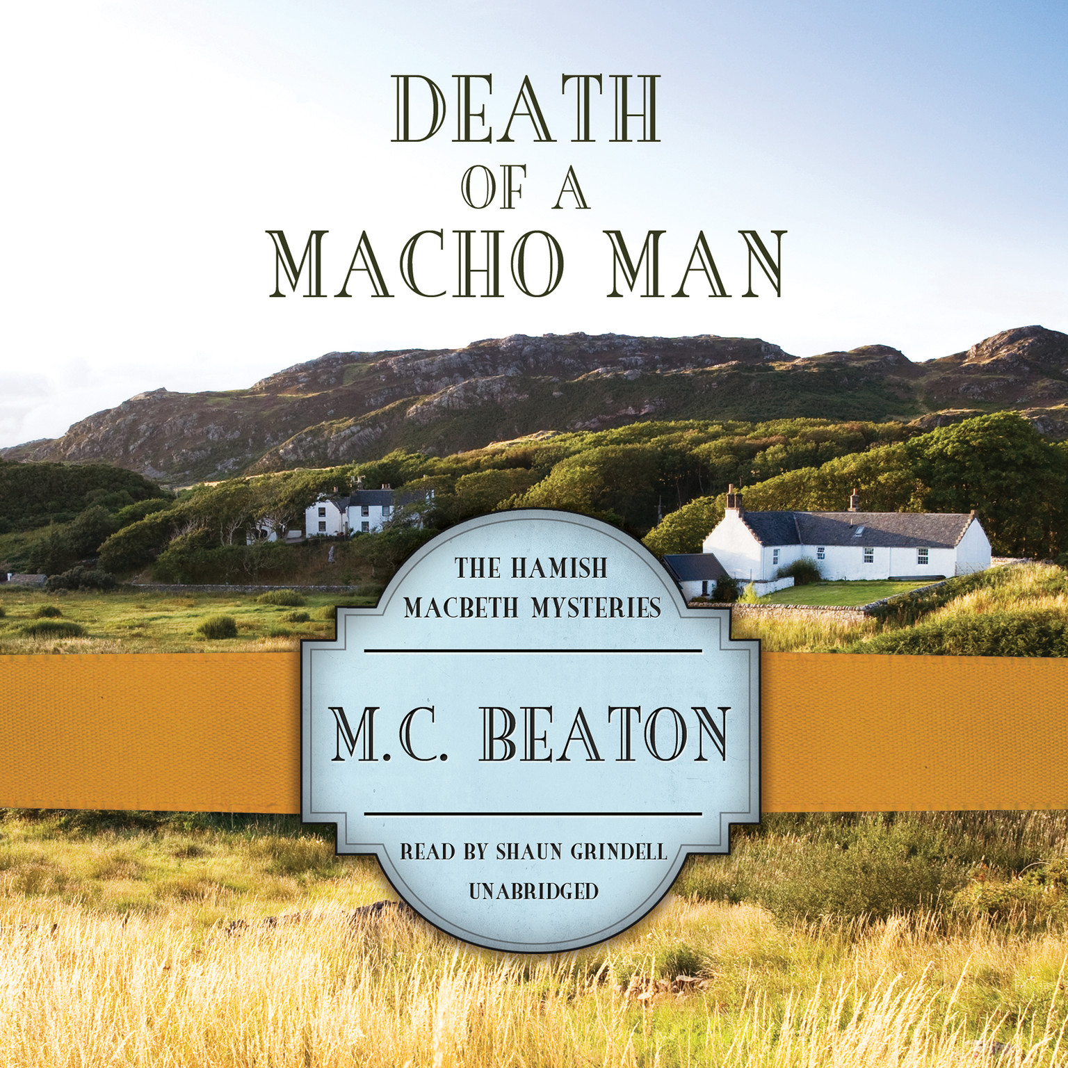 Printable Death of a Macho Man Audiobook Cover Art