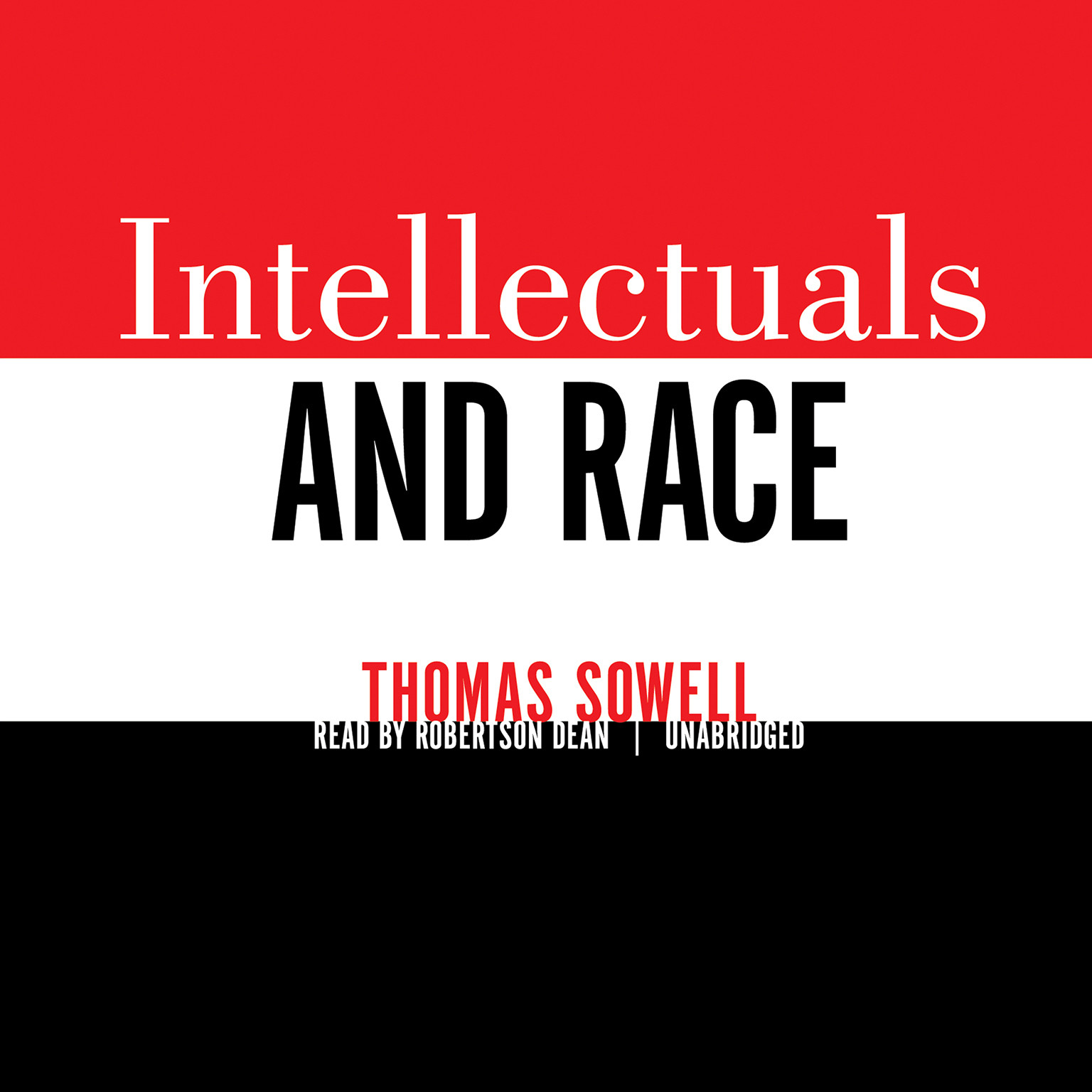 Printable Intellectuals and Race Audiobook Cover Art