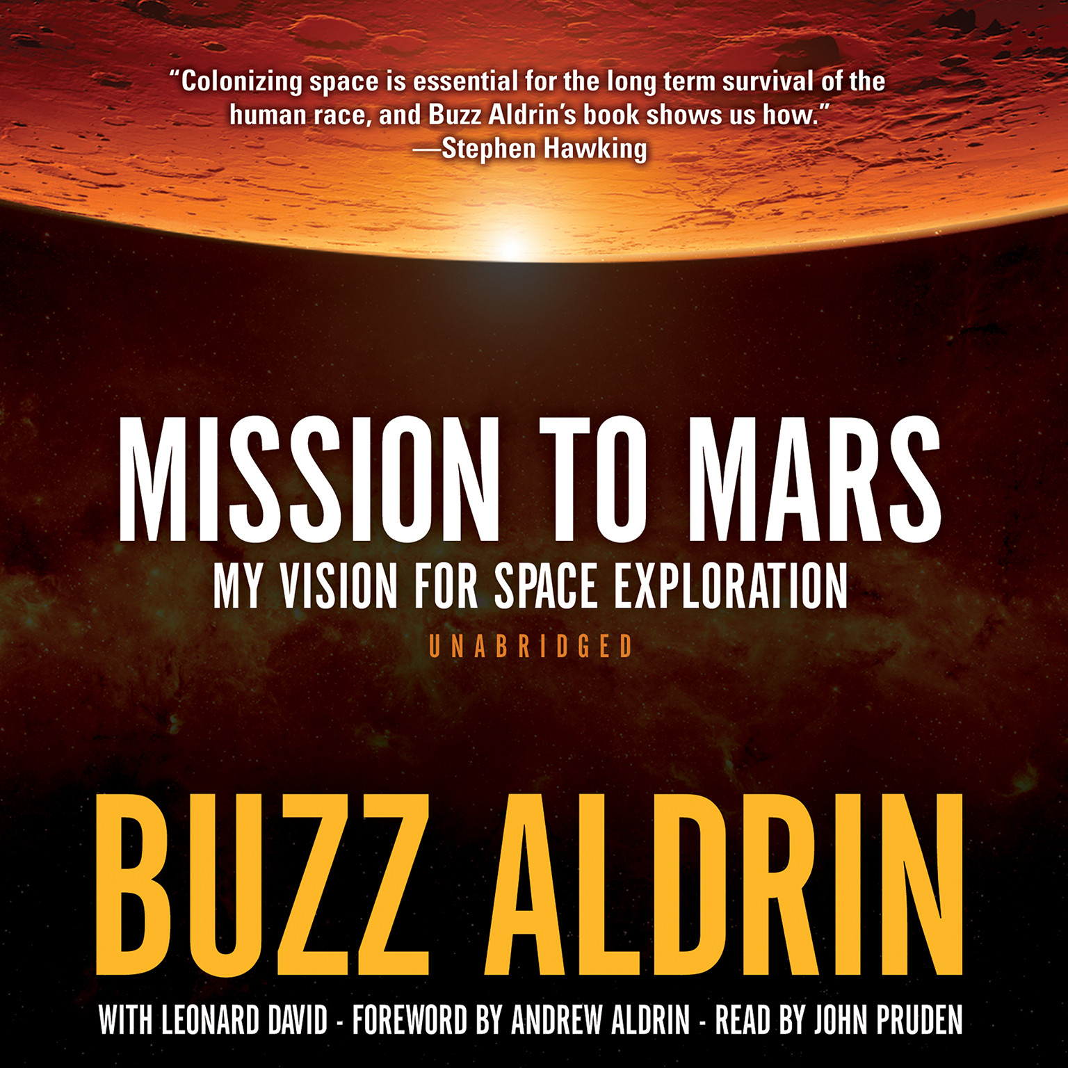 Printable Mission to Mars: My Vision for Space Exploration Audiobook Cover Art