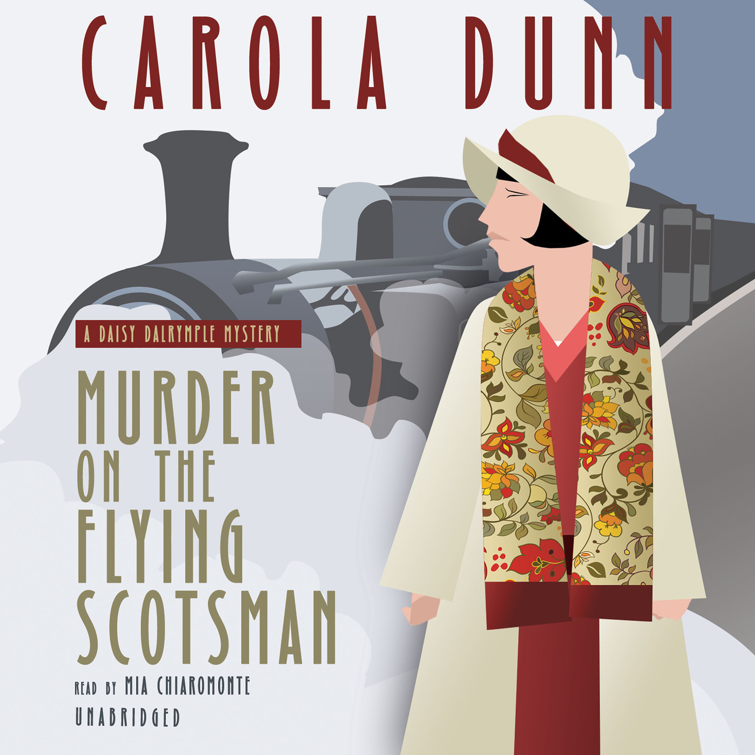 Printable Murder on the Flying Scotsman: A Daisy Dalrymple Mystery Audiobook Cover Art