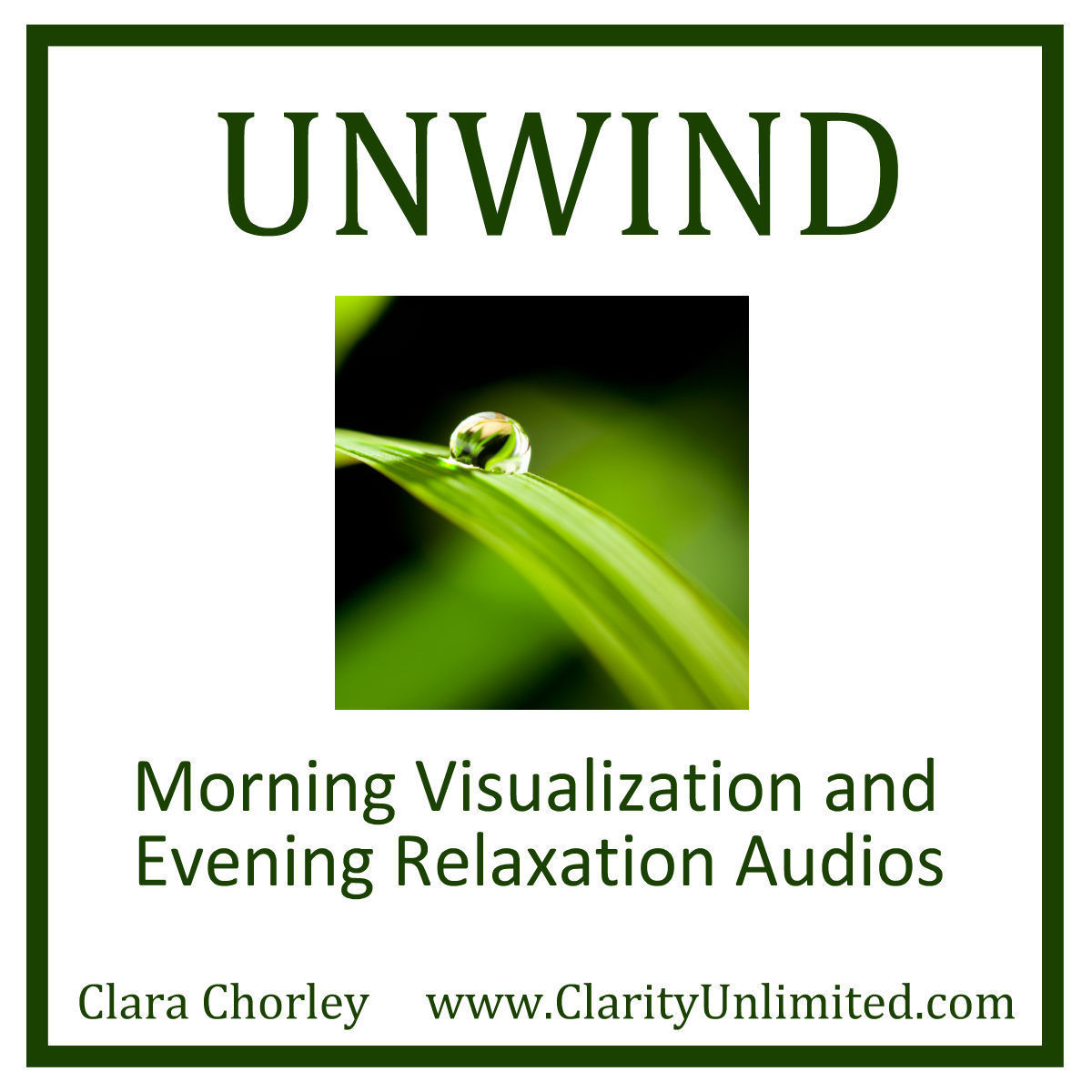 Printable Unwind: Morning Visualazation and Evening Relaxation Audios Audiobook Cover Art
