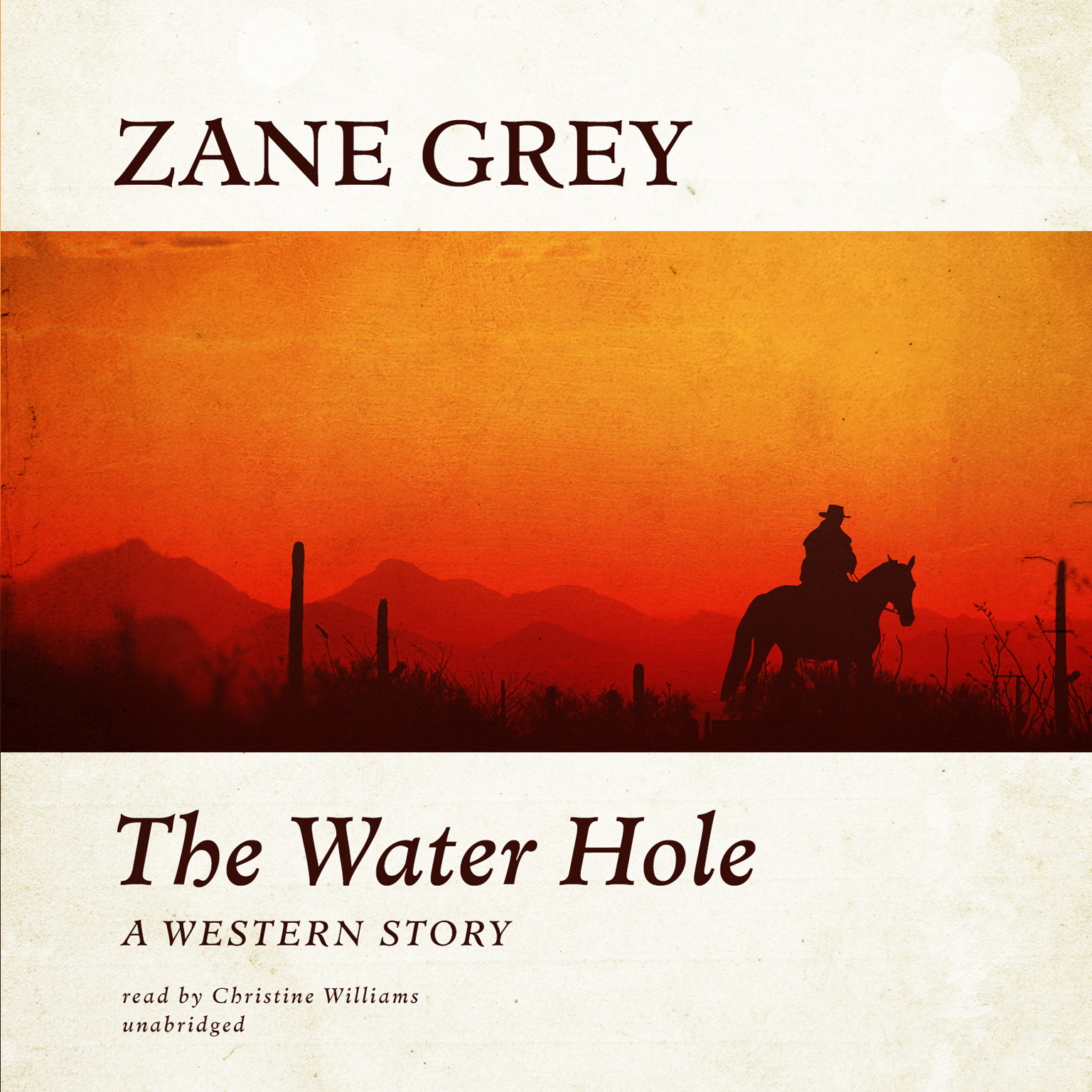 Printable The Water Hole: A Western Story Audiobook Cover Art