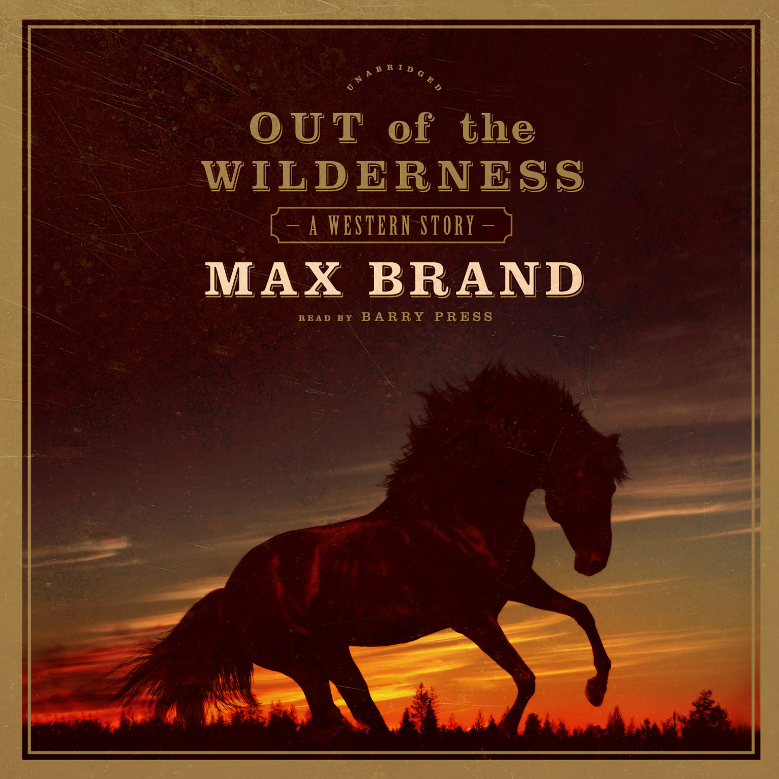 Printable Out of the Wilderness: A Western Story Audiobook Cover Art