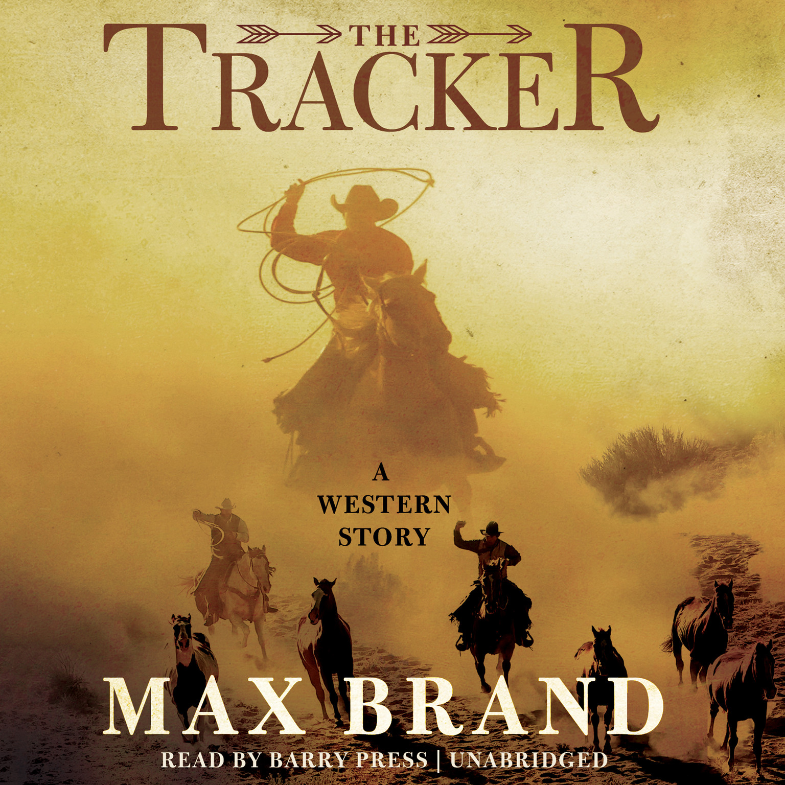 Printable The Tracker: A Western Story Audiobook Cover Art