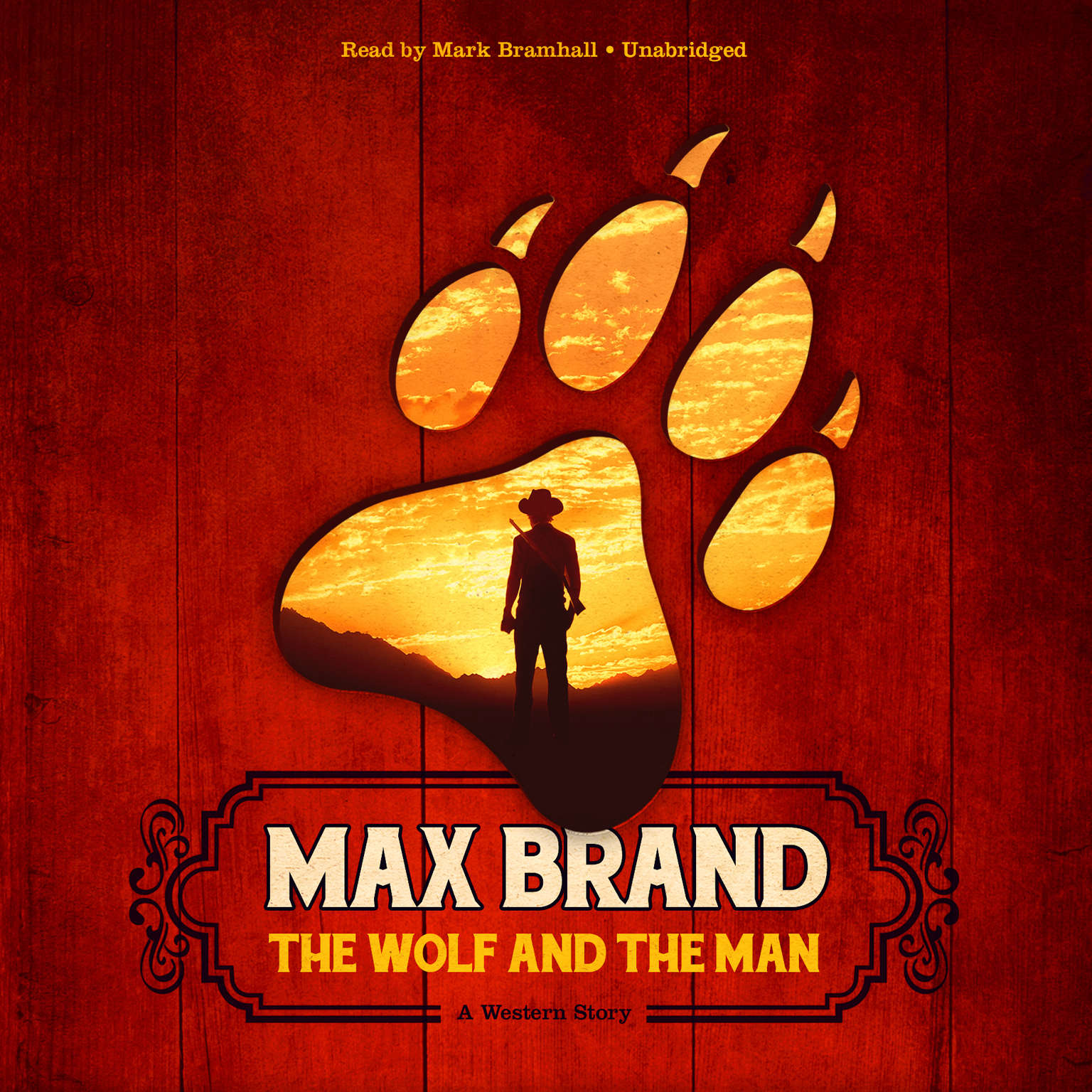 Printable The Wolf and the Man: A Western Story Audiobook Cover Art