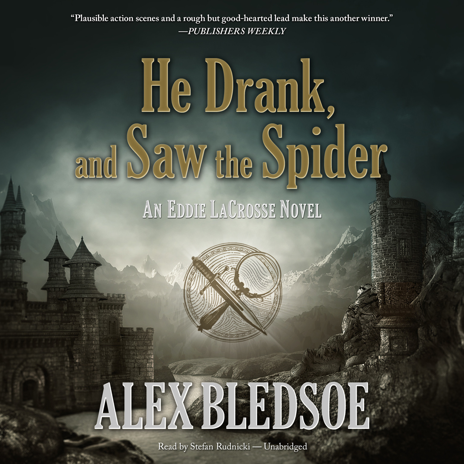 Printable He Drank, and Saw the Spider: An Eddie LaCrosse Novel Audiobook Cover Art