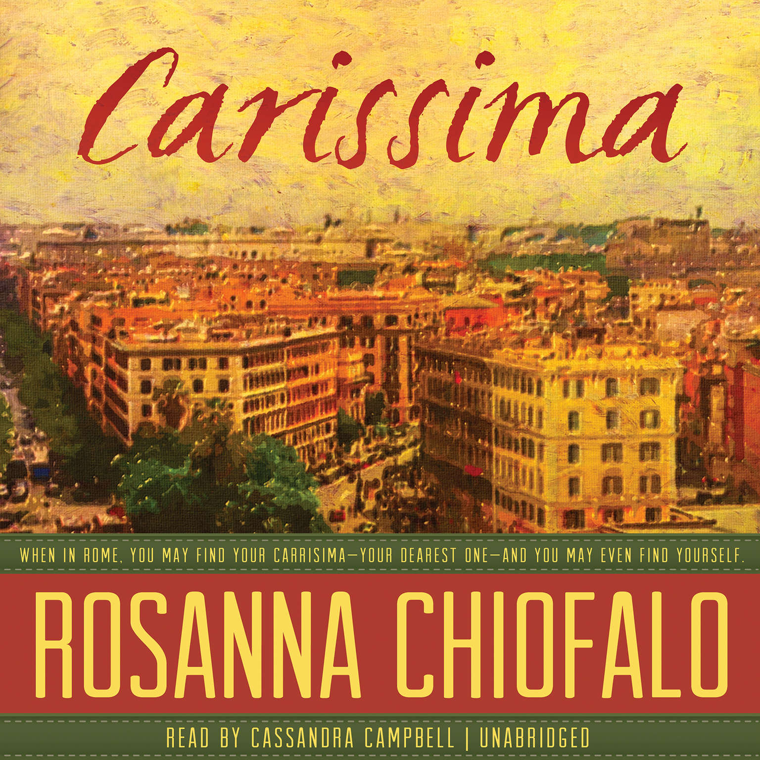 Printable Carissima Audiobook Cover Art