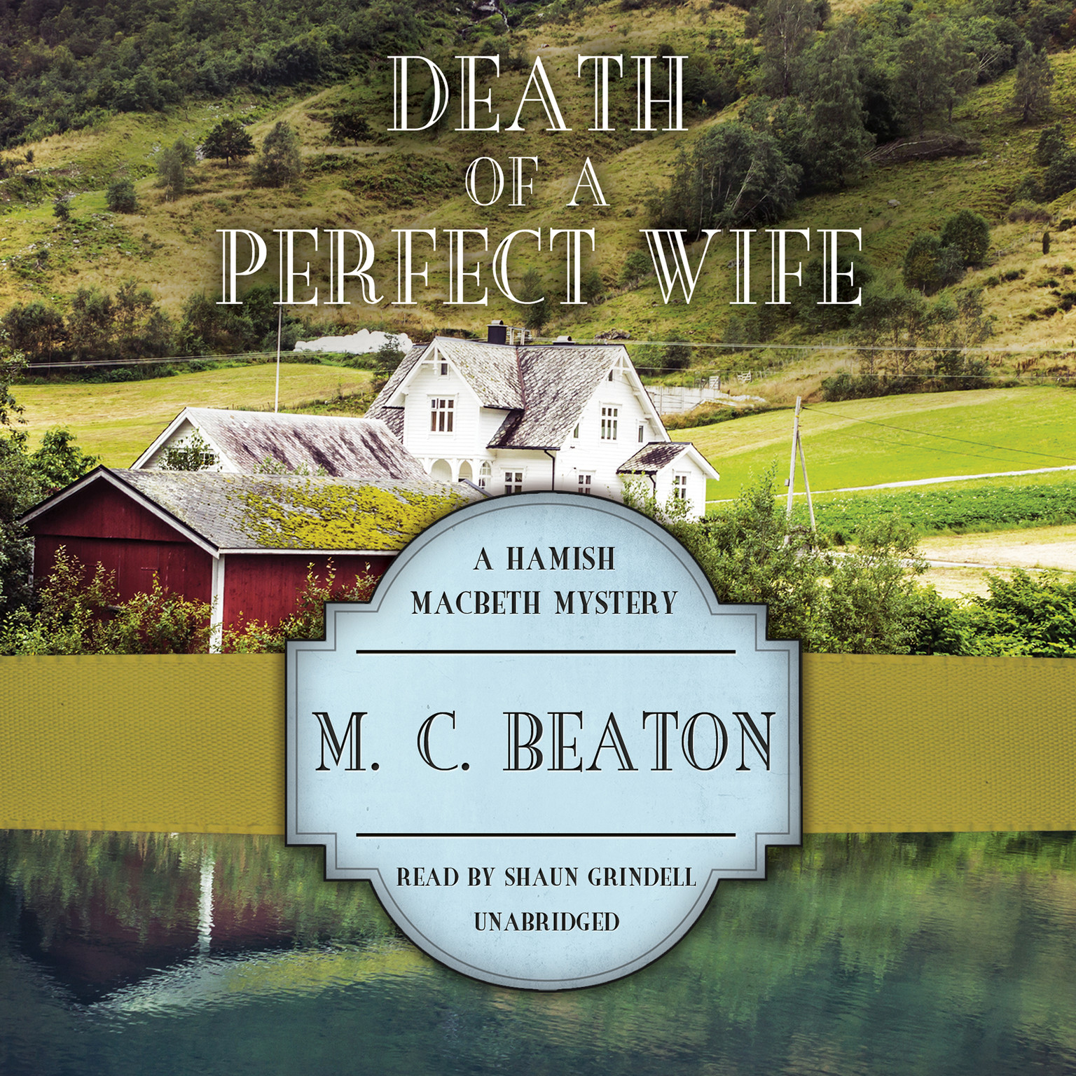 Printable Death of a Perfect Wife Audiobook Cover Art