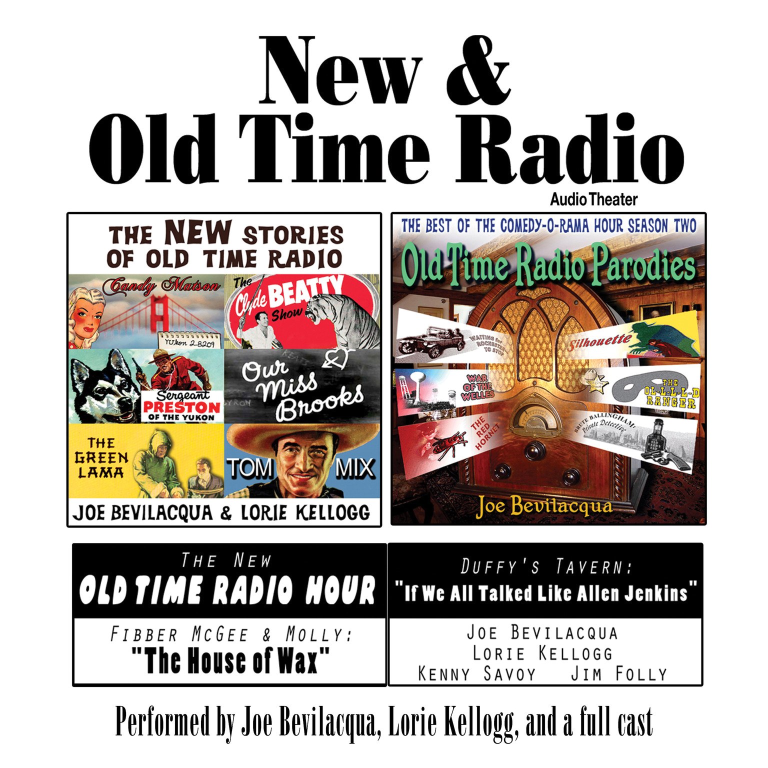 Printable New & Old Time Radio Audiobook Cover Art