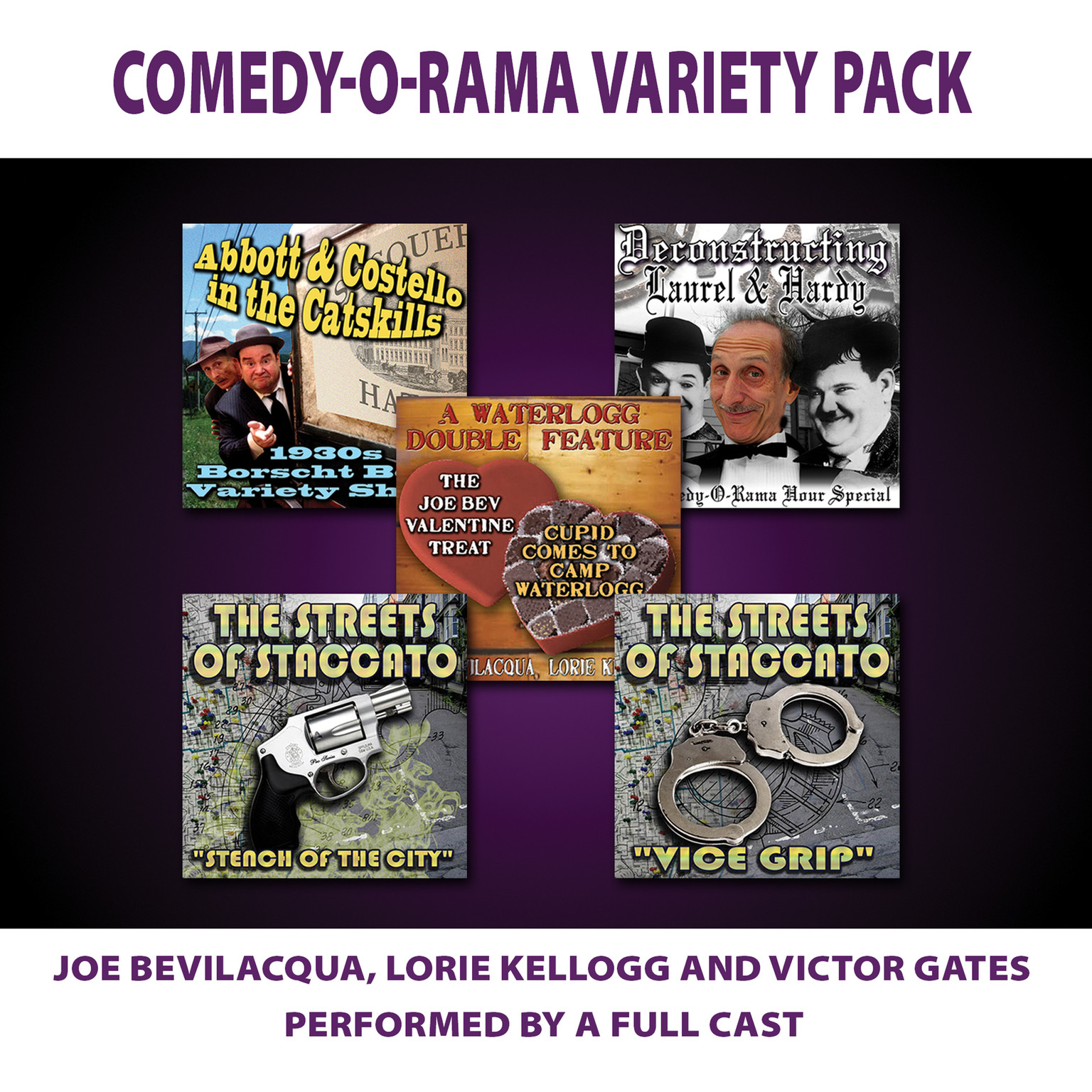 Printable Comedy-O-Rama Variety Pack Audiobook Cover Art