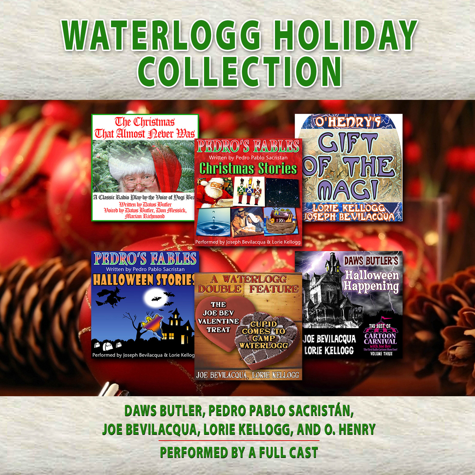 Printable Waterlogg Holiday Collection Audiobook Cover Art