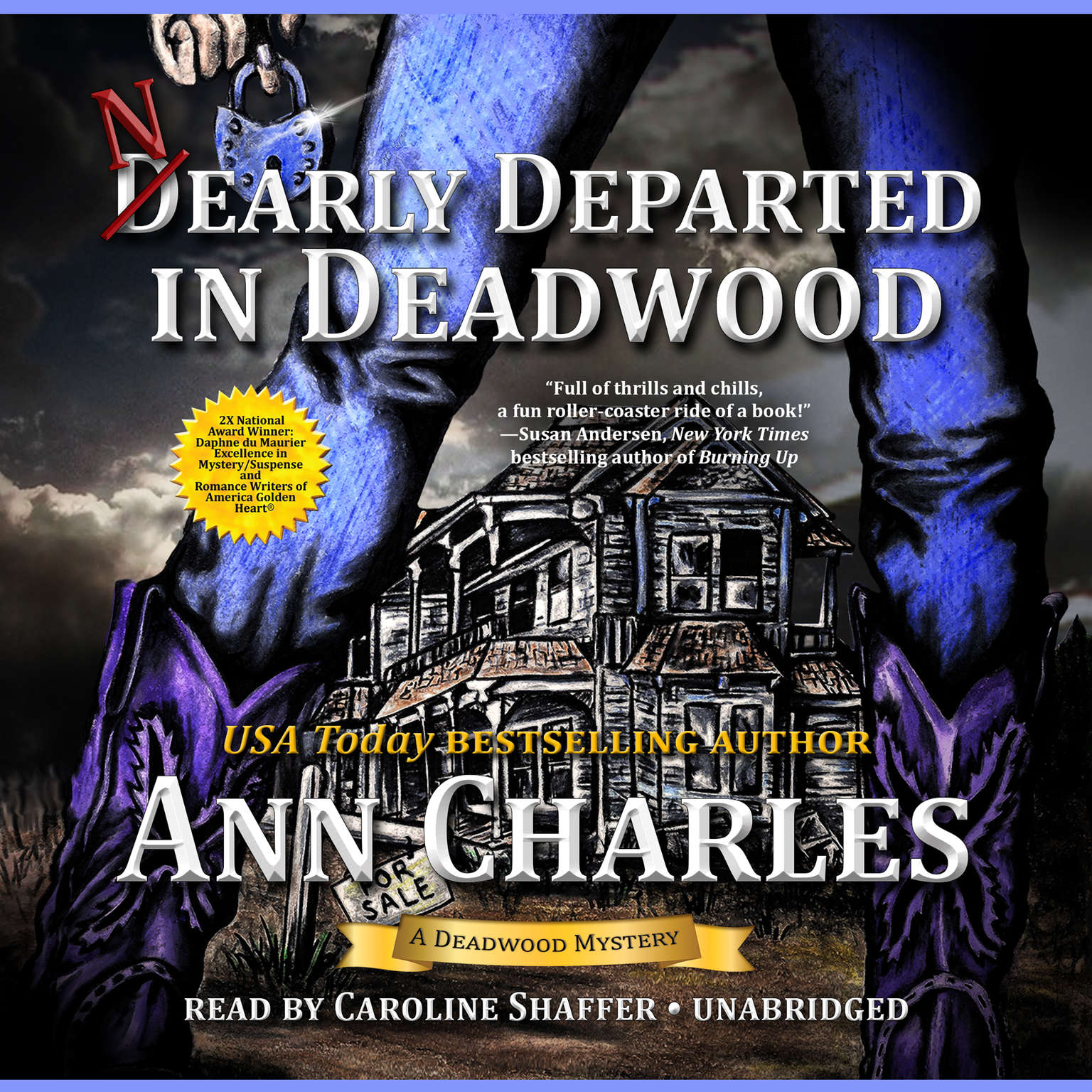 Printable Nearly Departed in Deadwood Audiobook Cover Art