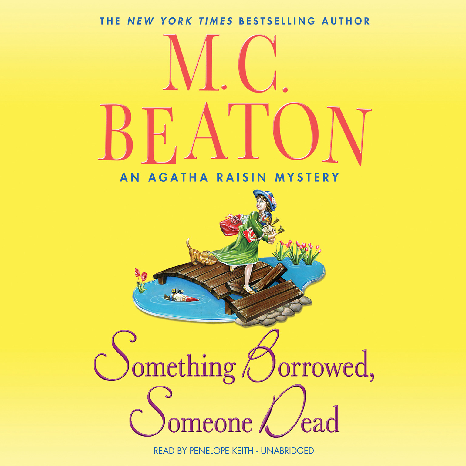 Printable Something Borrowed, Someone Dead: An Agatha Raisin Mystery Audiobook Cover Art
