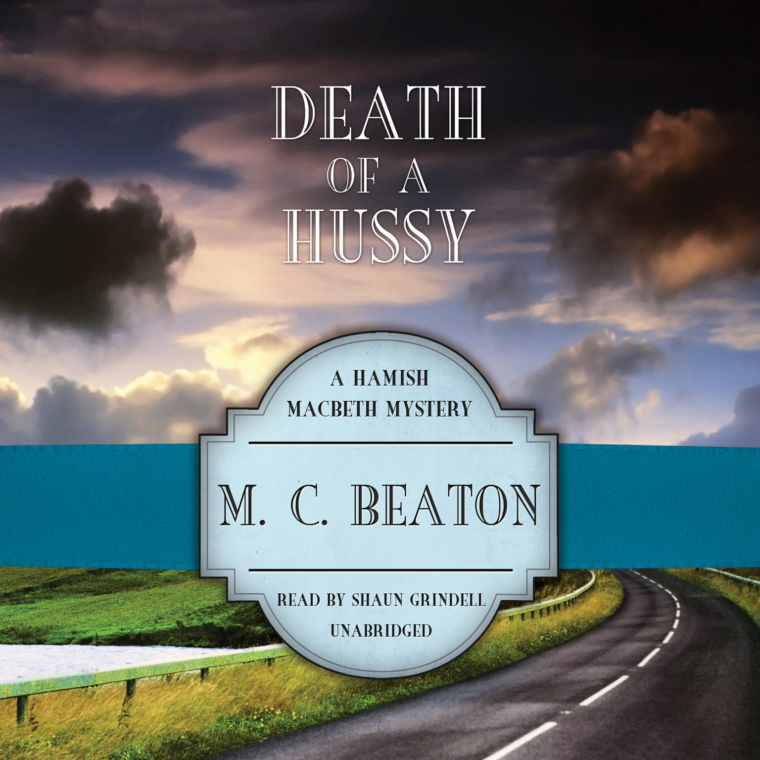 Printable Death of a Hussy Audiobook Cover Art