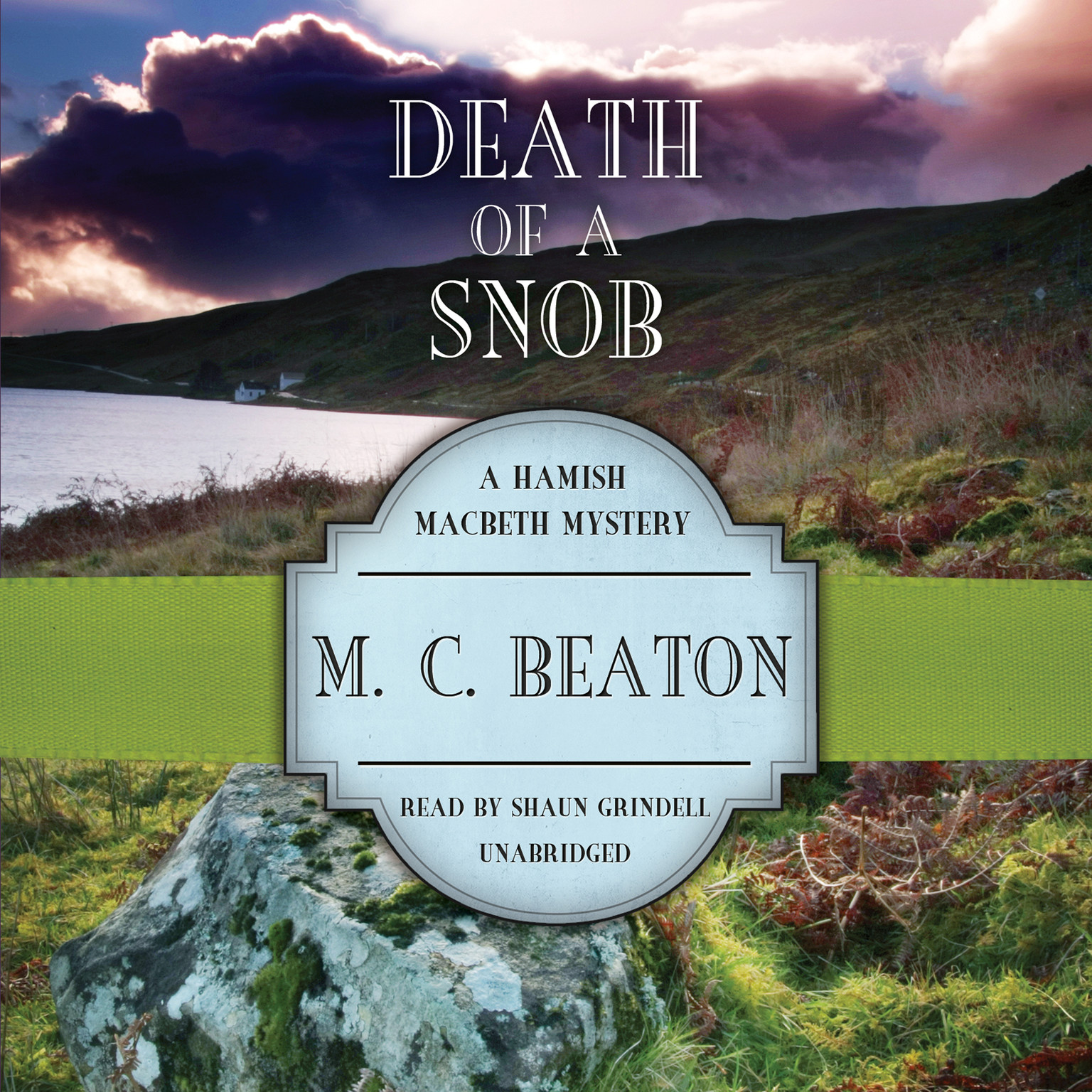Printable Death of a Snob Audiobook Cover Art