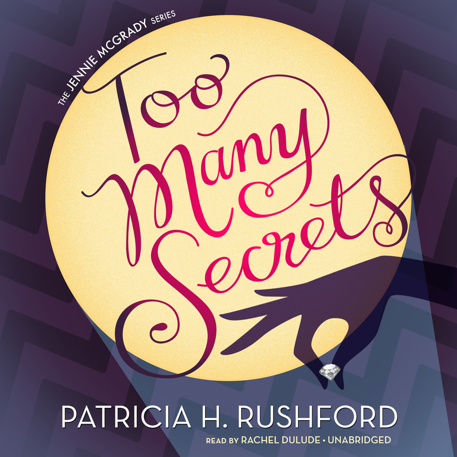 Printable Too Many Secrets Audiobook Cover Art