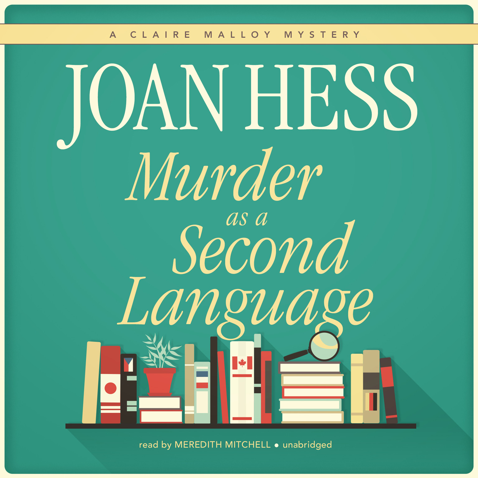 Printable Murder as a Second Language Audiobook Cover Art