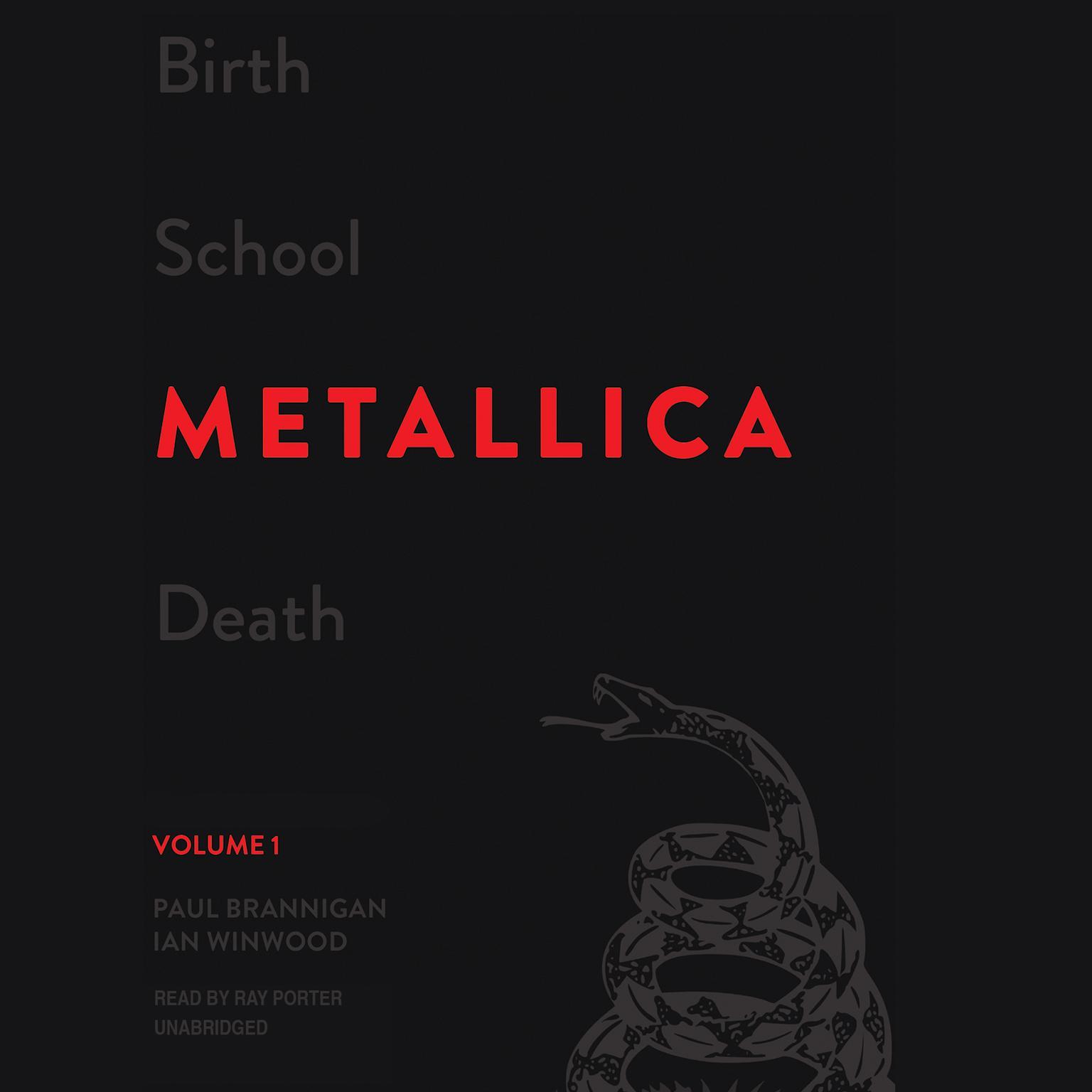 Printable Birth School Metallica Death, Vol. 1 Audiobook Cover Art