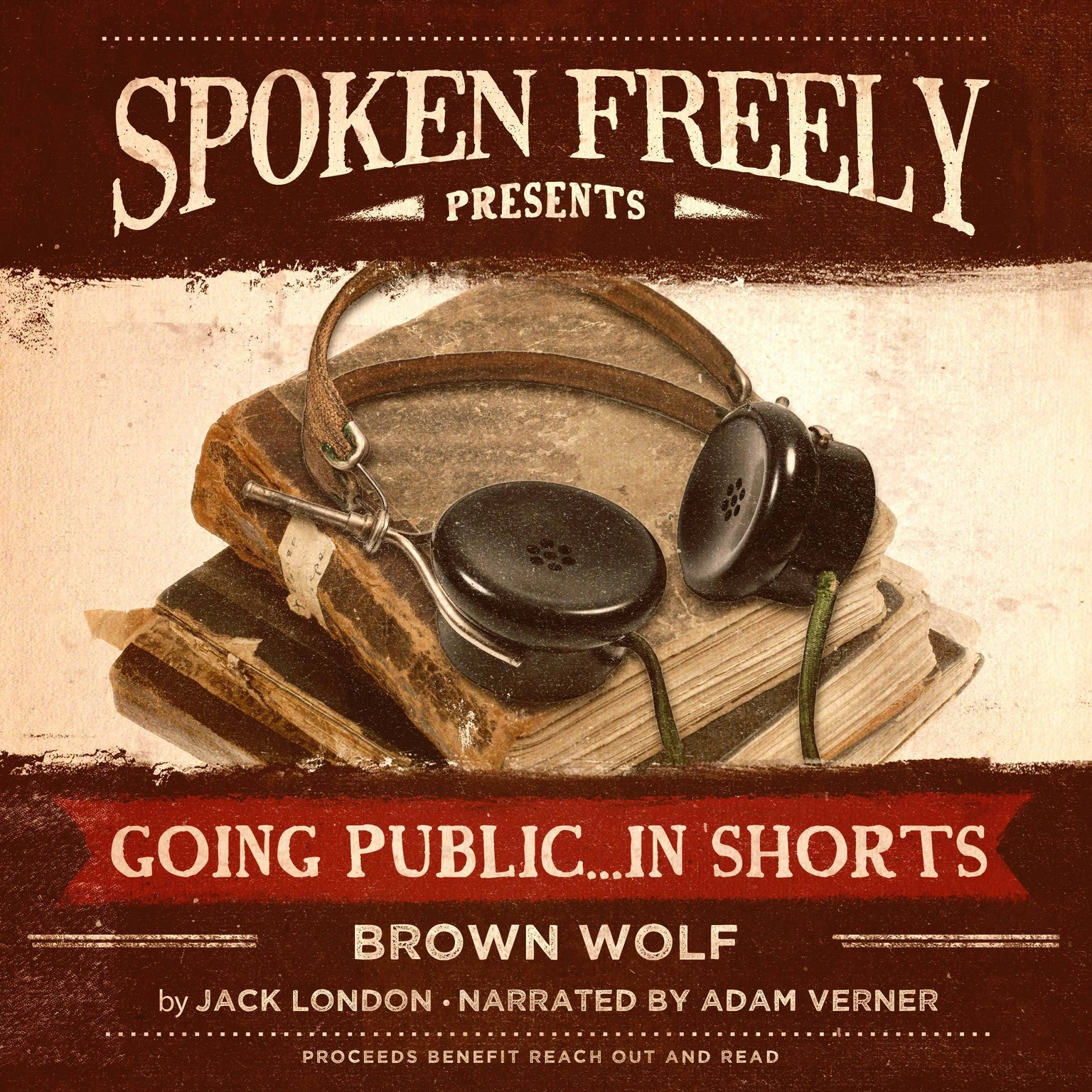 Printable Brown Wolf Audiobook Cover Art