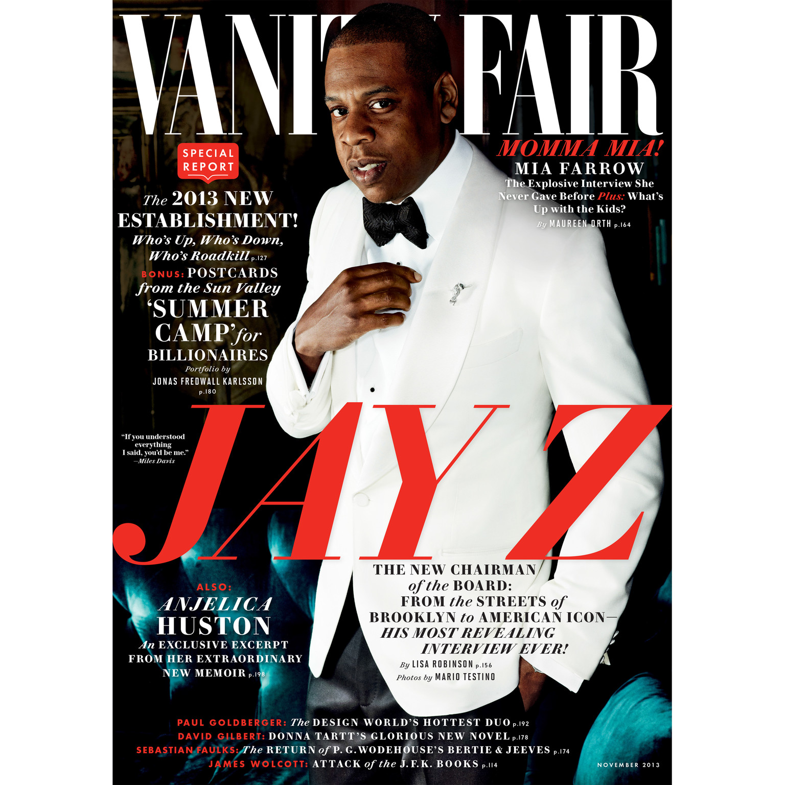 Printable Vanity Fair: November 2013 Issue Audiobook Cover Art