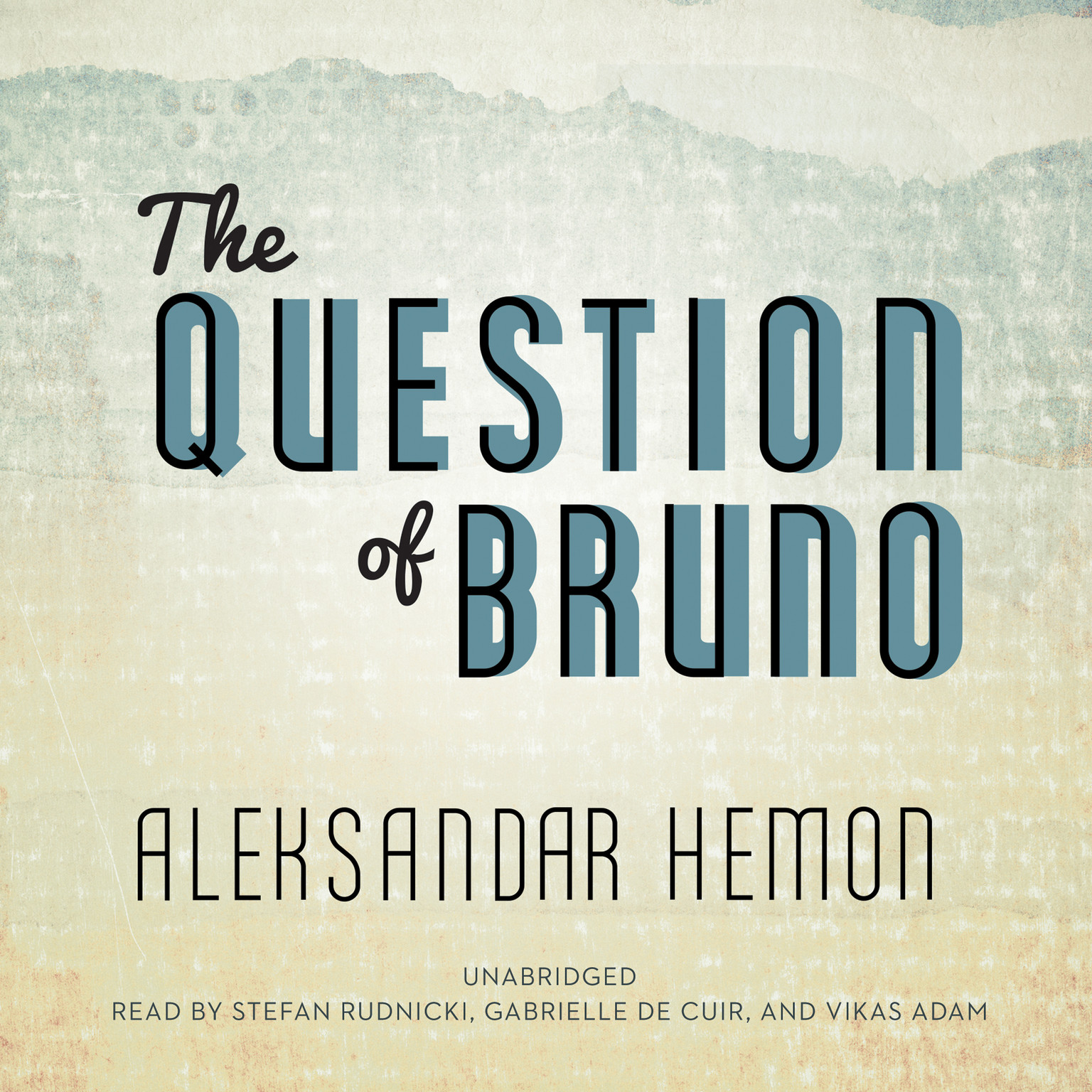Printable The Question of Bruno Audiobook Cover Art