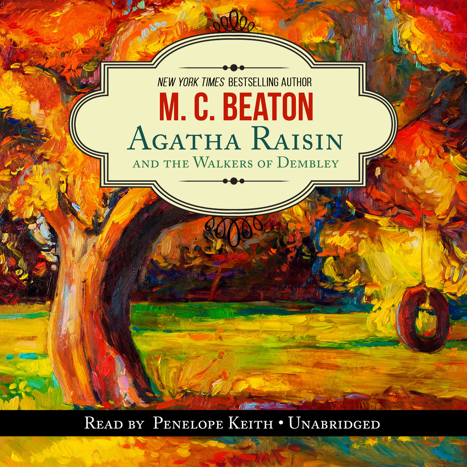 Printable Agatha Raisin and the Walkers of Dembley Audiobook Cover Art