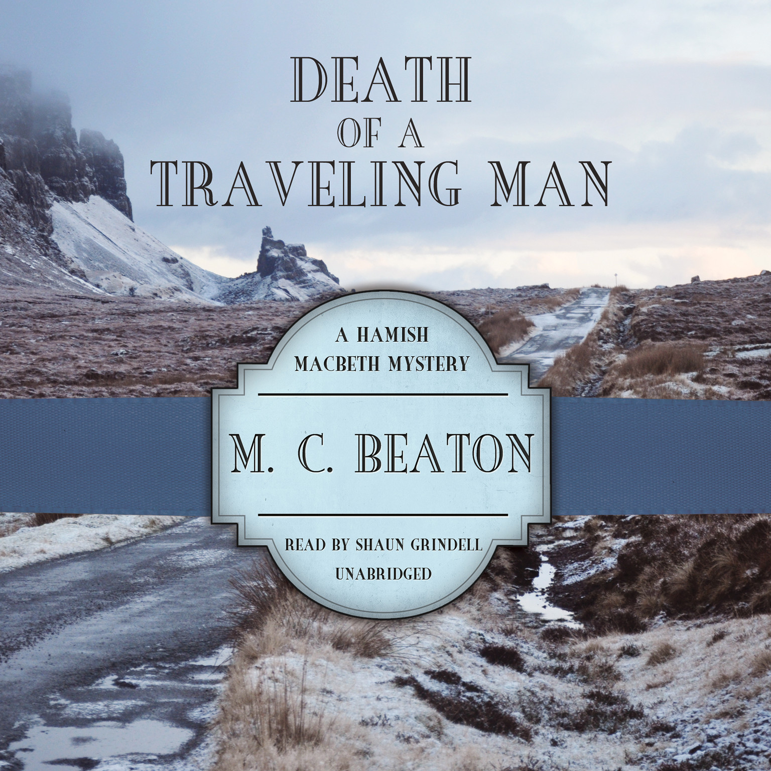 Printable Death of a Traveling Man Audiobook Cover Art
