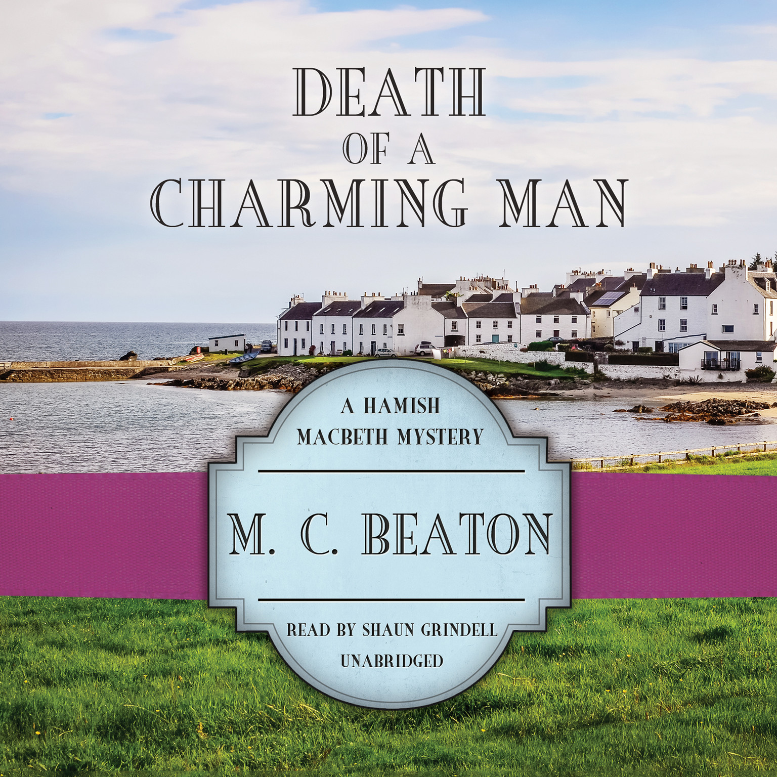 Printable Death of a Charming Man Audiobook Cover Art